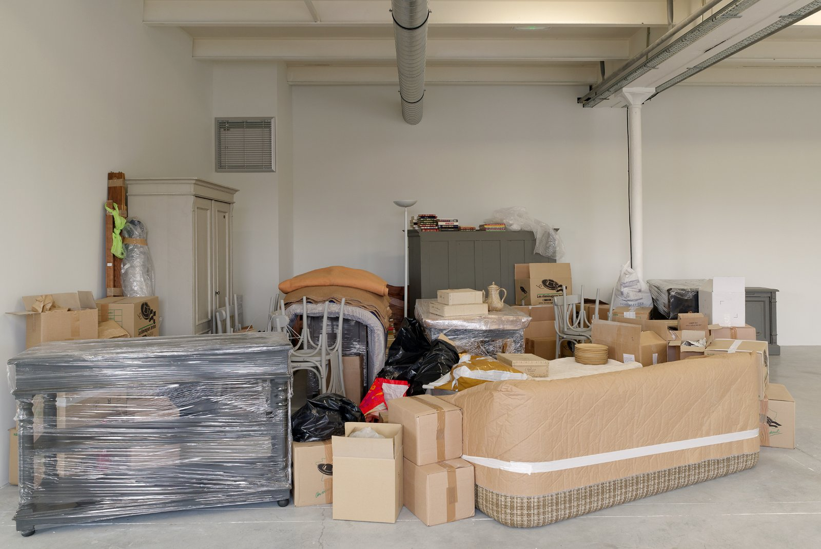 Liz Magor, One Bedroom Apartment (detail), 1996, polyester resin, contents of a one-bedroom apartment, dimensions variable. Installation view, NoFear,NoShame,NoConfusion,TriangleFrance,Marseille,France, 2013 by Liz Magor