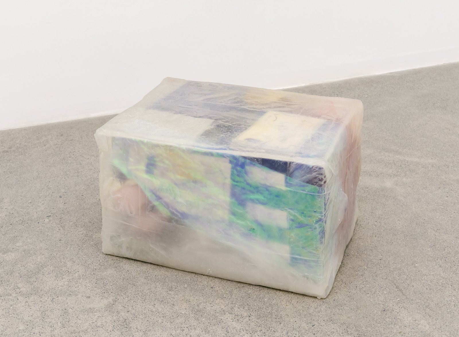 Liz Magor, All The Names (Head), 2016, silicone rubber, miscellaneous objects, 11 x 18 x 13 in. (27 x 45 x 33 cm) by Liz Magor