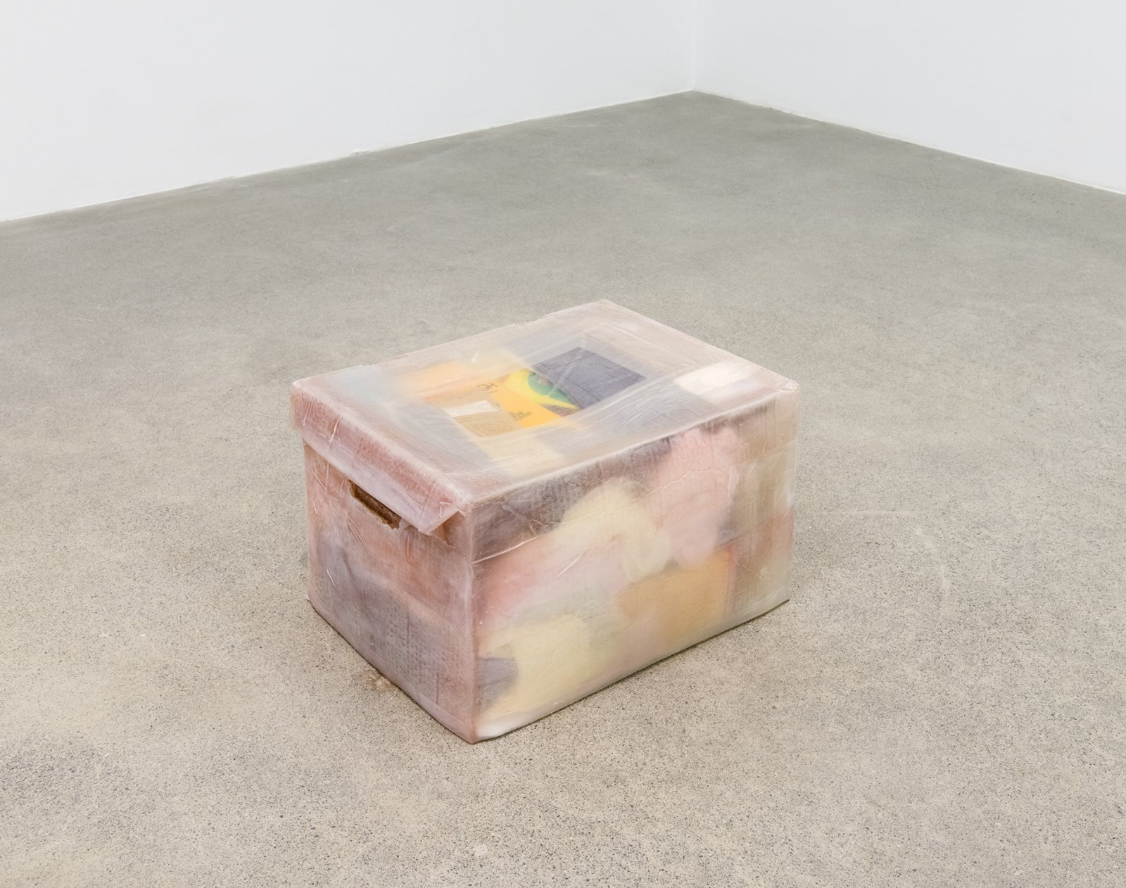 Liz Magor, All the Names (Legs), 2016, silicone rubber, miscellaneous objects, 11 x 18 x 13 in. (27 x 45 x 33 cm) by Liz Magor