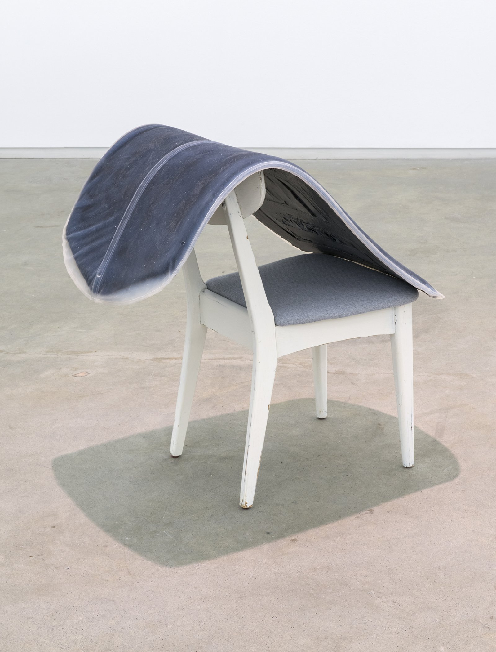 Liz Magor, Formal I, 2012, platinum-cure silicone rubber, chair, 32 x 24 x 32 in. (81 x 61 x 81 cm) by Liz Magor