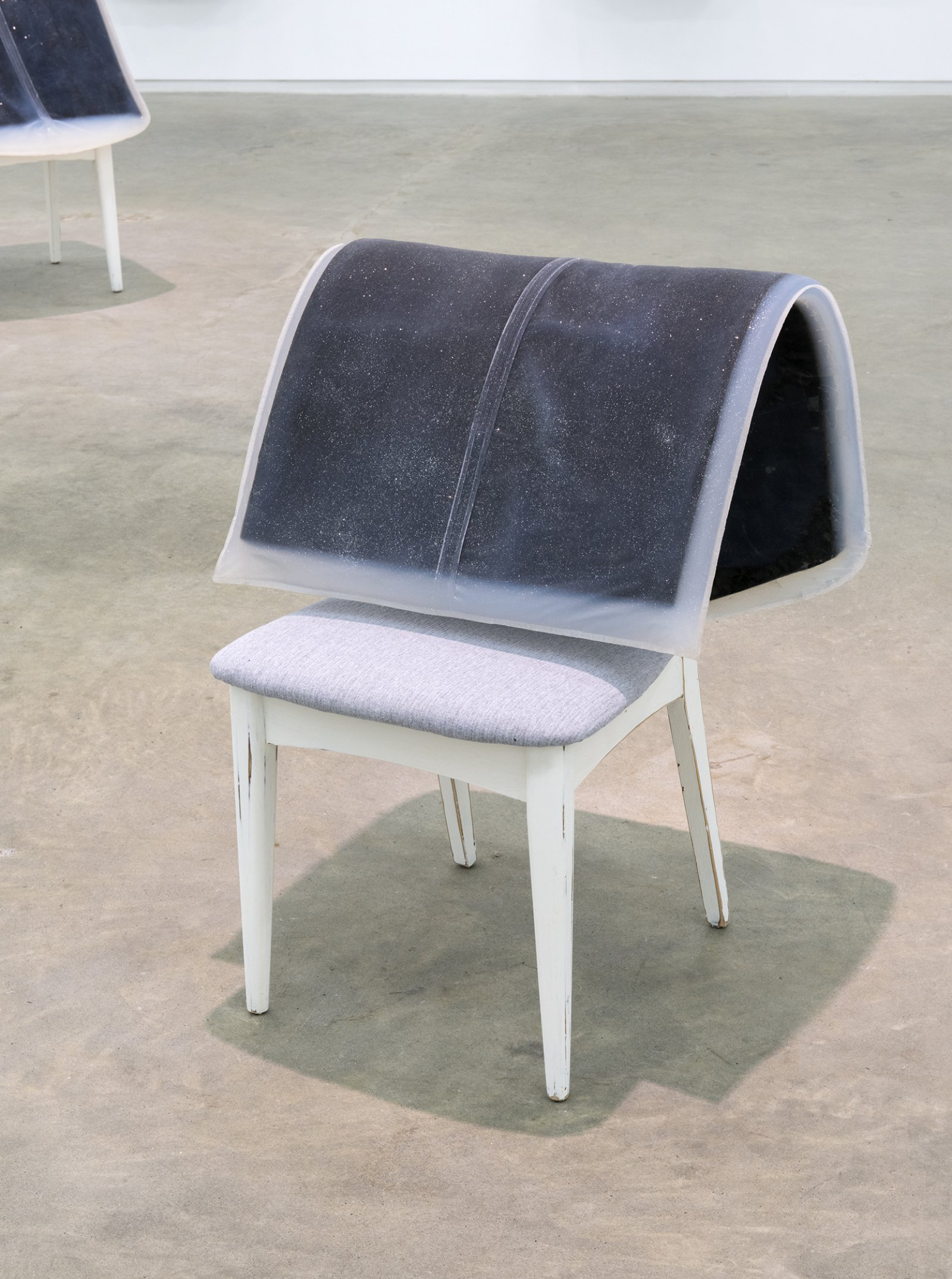 Liz Magor, Formal II, 2012, platinum-cure silicone rubber, chair, 32 x 24 x 26 in. (81 x 61 x 66 cm)   by Liz Magor