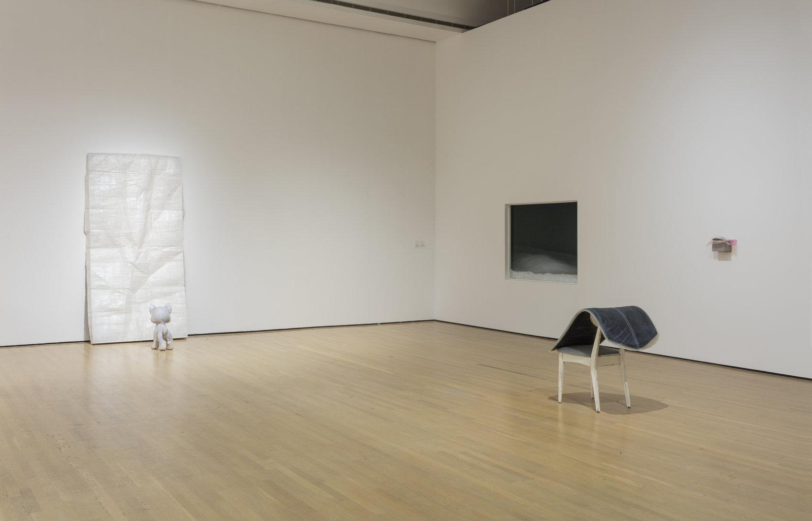 Liz Magor, installation view, Habitude, Musée d'art contemporain de Montréal, 2016 by Liz Magor
