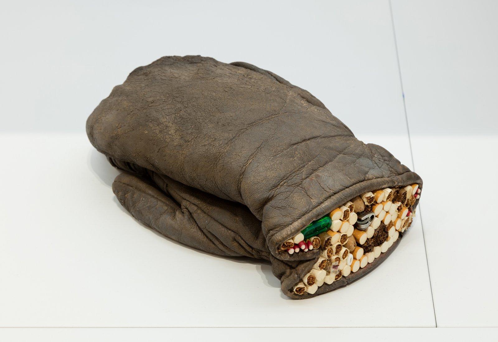 Liz Magor, Humidor, 2004, polymerized gypsum, tobacco, 11 x 6 x 4 in. (28 x 15 x 10 cm) by Liz Magor