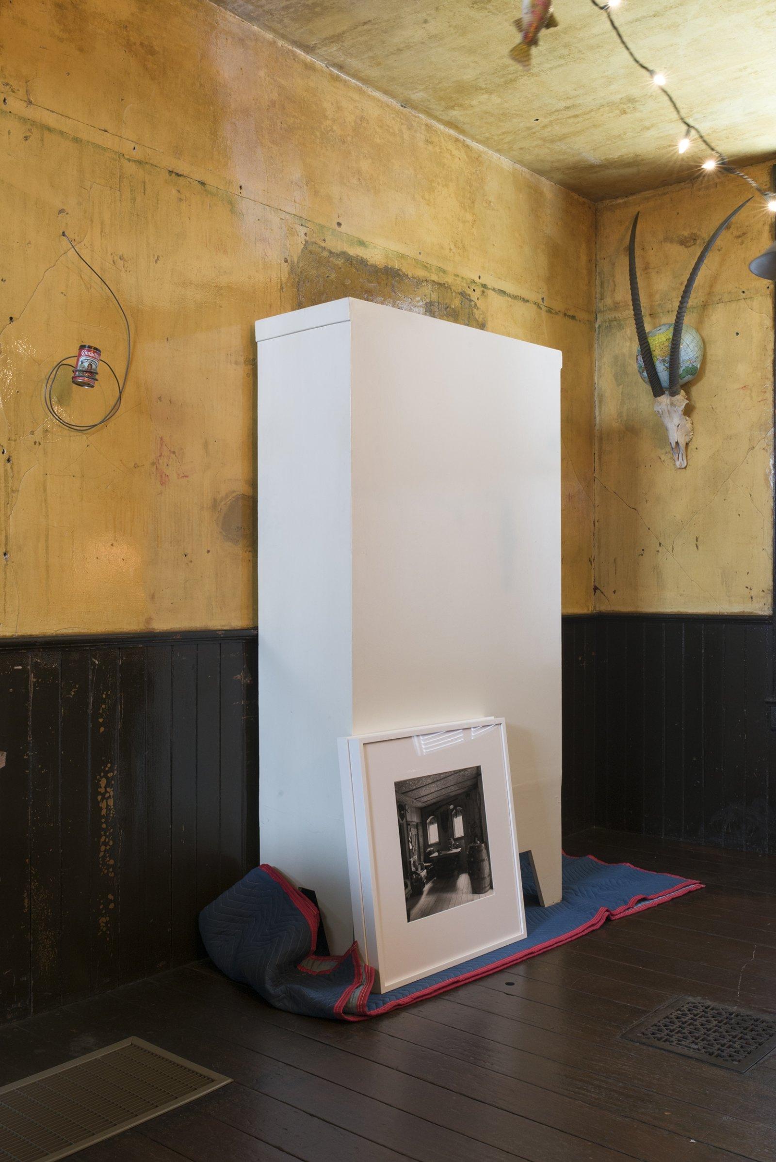 Liz Magor, Karl's Castle, 2003, 2 silver gelatin prints, each 16 x 20 in. (41 x 51 cm). Installation view, TIMESHARE, The David Ireland House, 500 Capp Street Foundation, San Francisco, USA, 2019 by Liz Magor