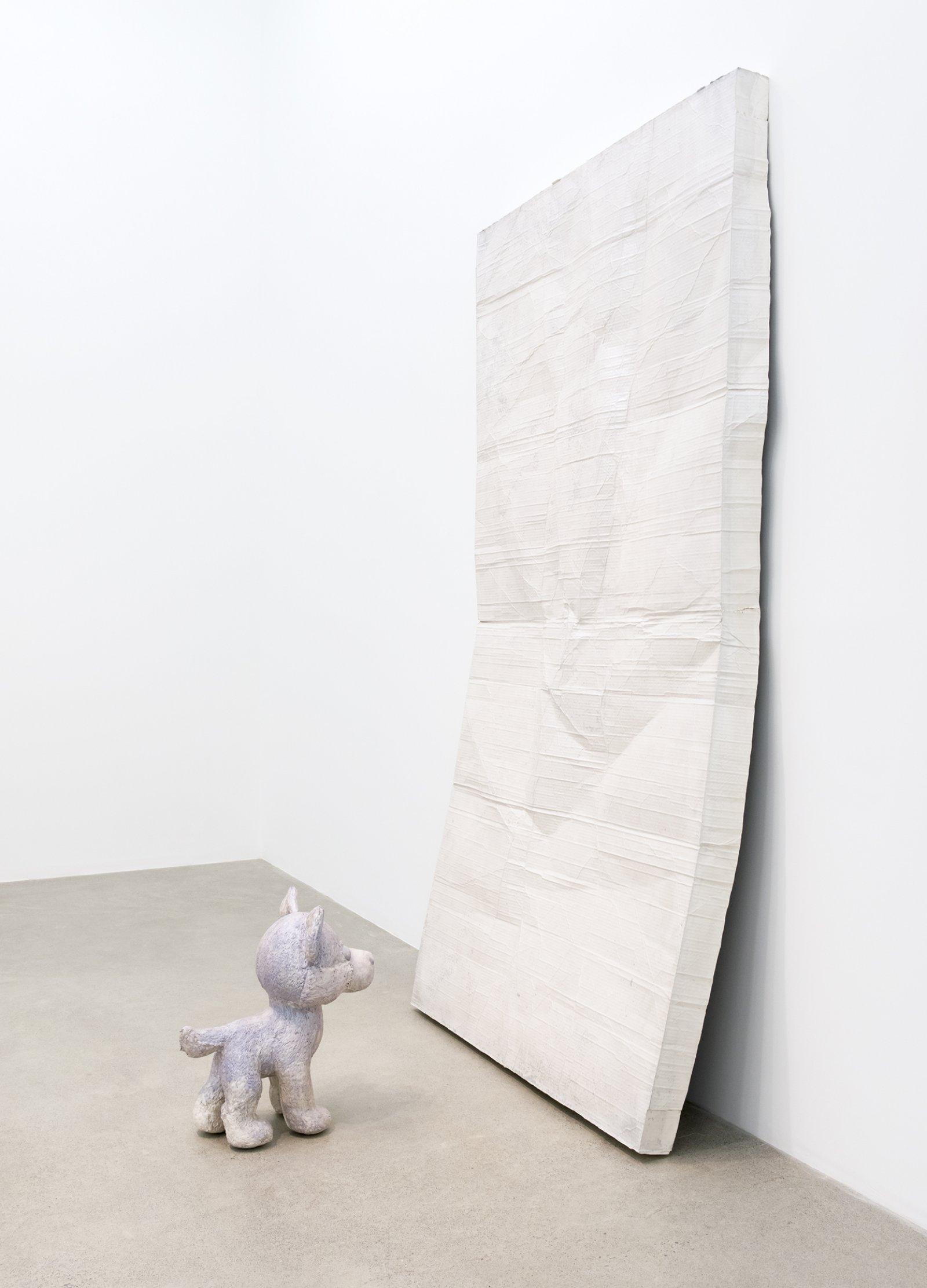 Liz Magor, Membership, 2016, polymerized gypsum, 96 x 53 x 47 in. (244 x 133 x 119 cm) by Liz Magor