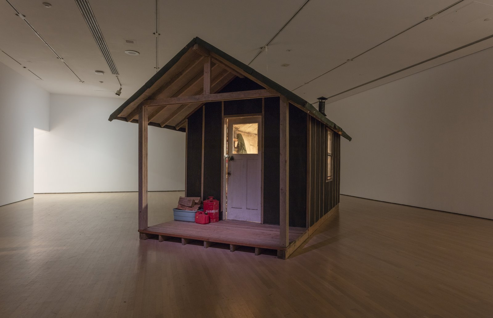 Liz Magor, Messenger, 1996–2002, wood, plaster, textile, found objects, dimensions variable by Liz Magor