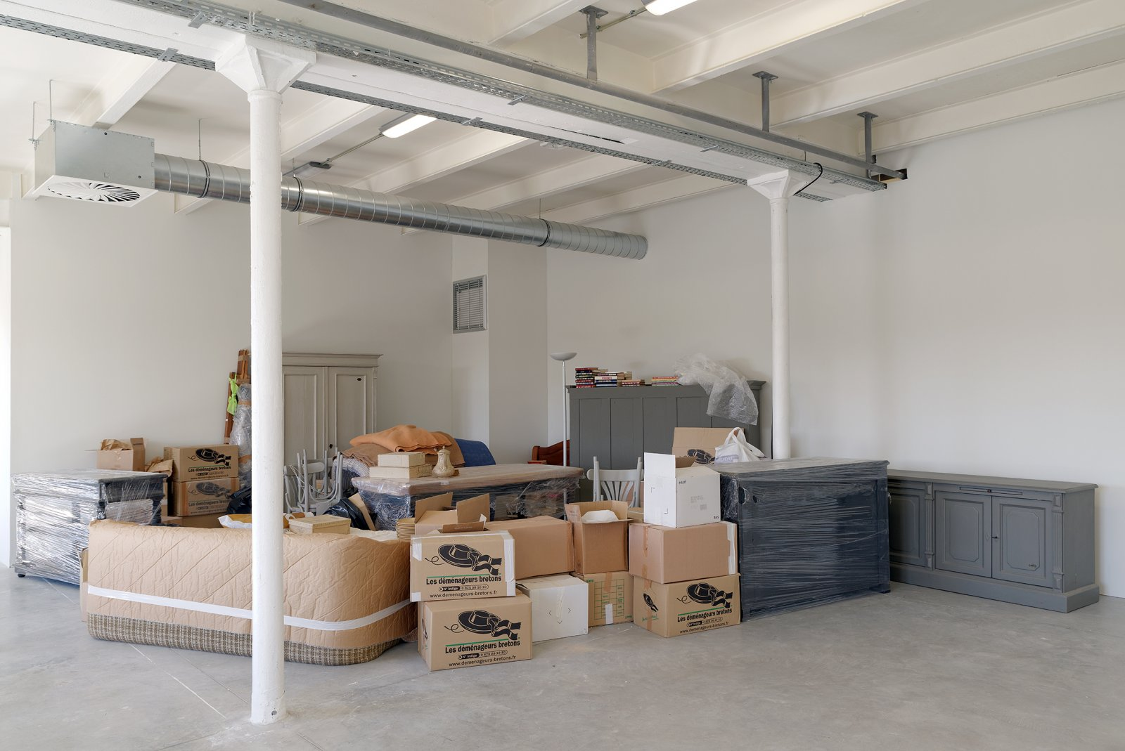 Liz Magor, One Bedroom Apartment, 1996, polyester resin, contents of a one-bedroom apartment, dimensions variable. Installation view, NoFear,NoShame,NoConfusion,TriangleFrance,Marseille,France, 2013 by Liz Magor