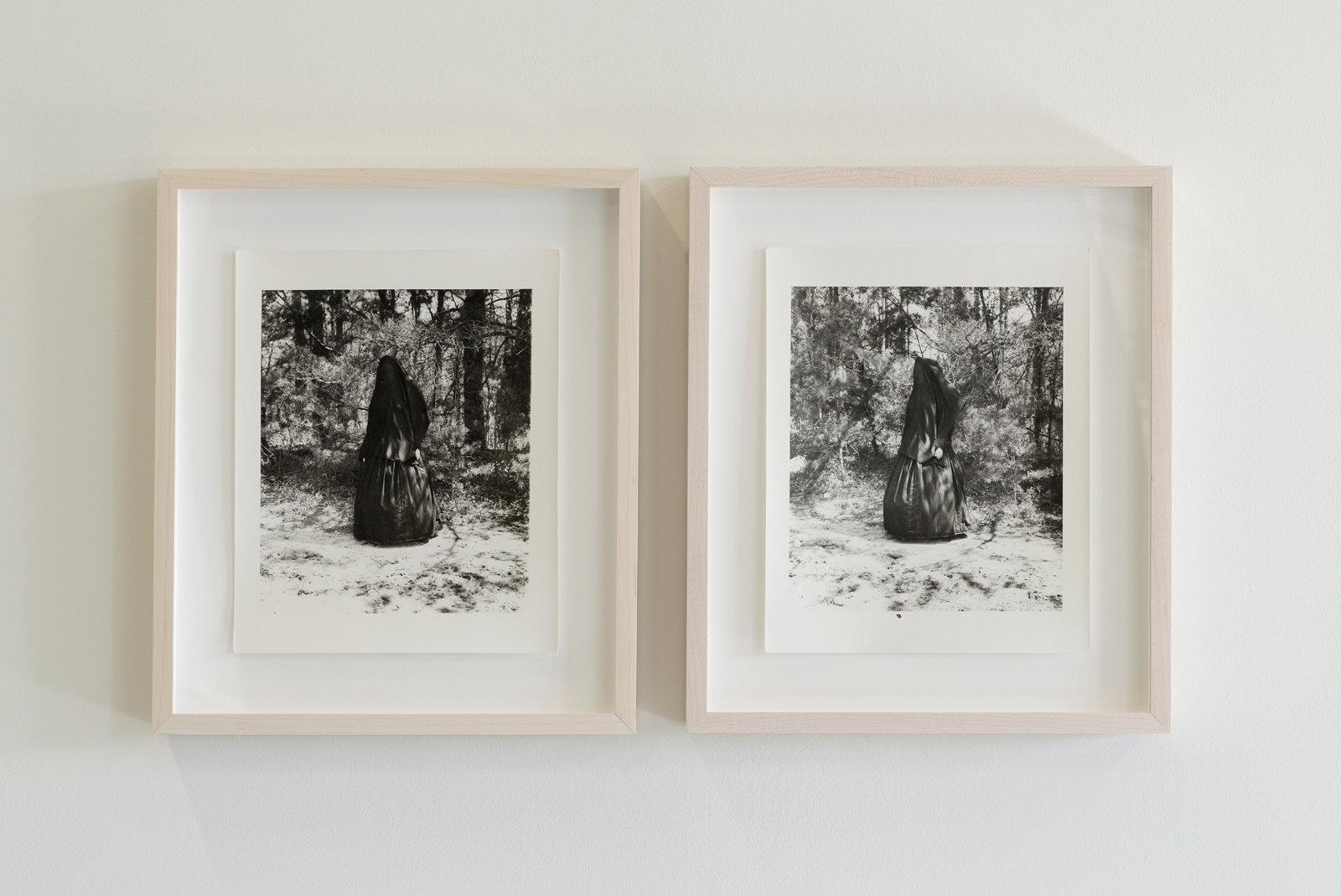 Liz Magor, Civil War Widows, 1991, 2 selenium tinted silver gelatine prints, each 8 x 10 in. (21 x 25 cm) by Liz Magor