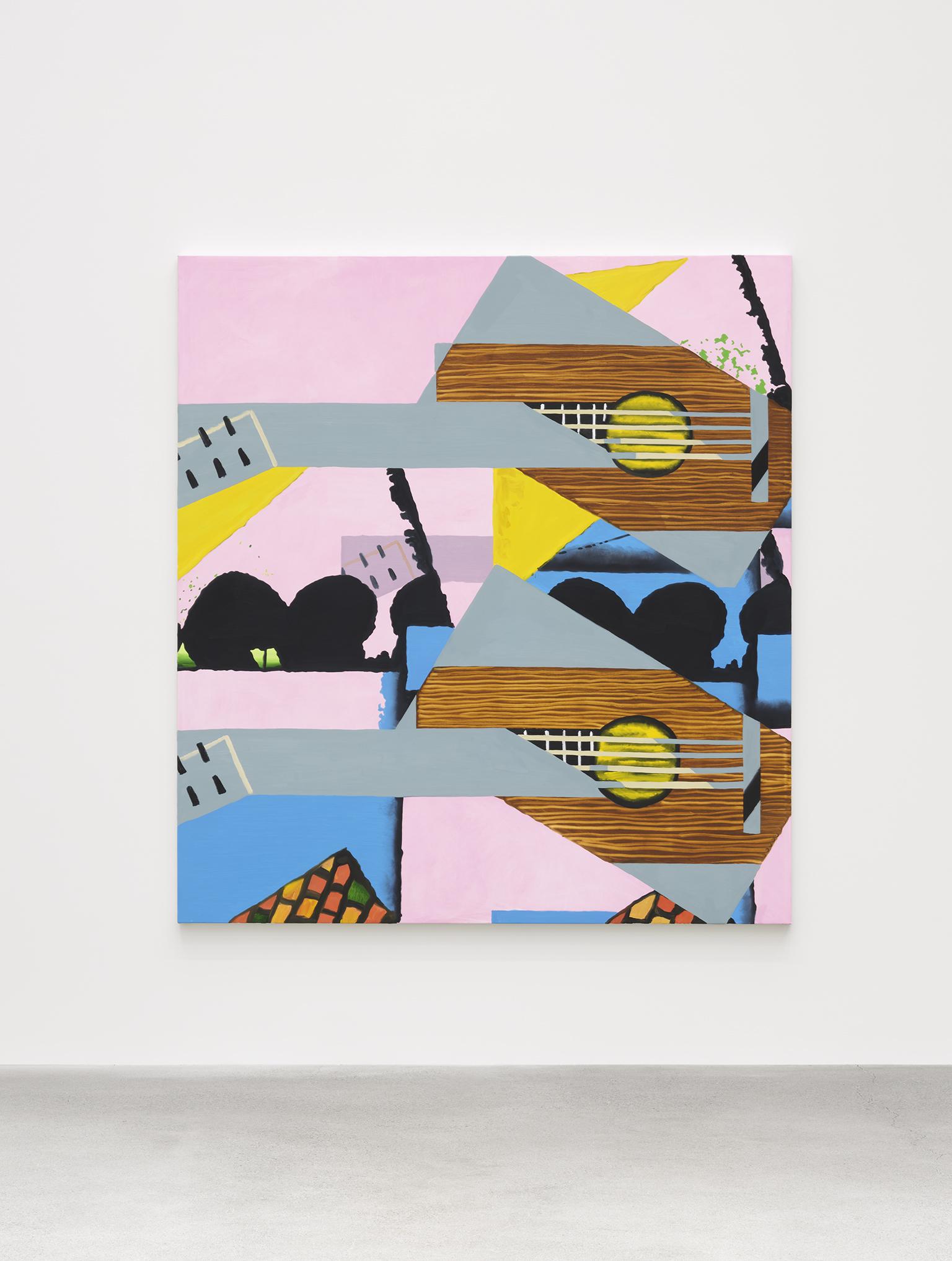 Elizabeth McIntosh, Guitar Guitar, 2019, oil on canvas, 78 x 72 in. (198 x 183 cm) by