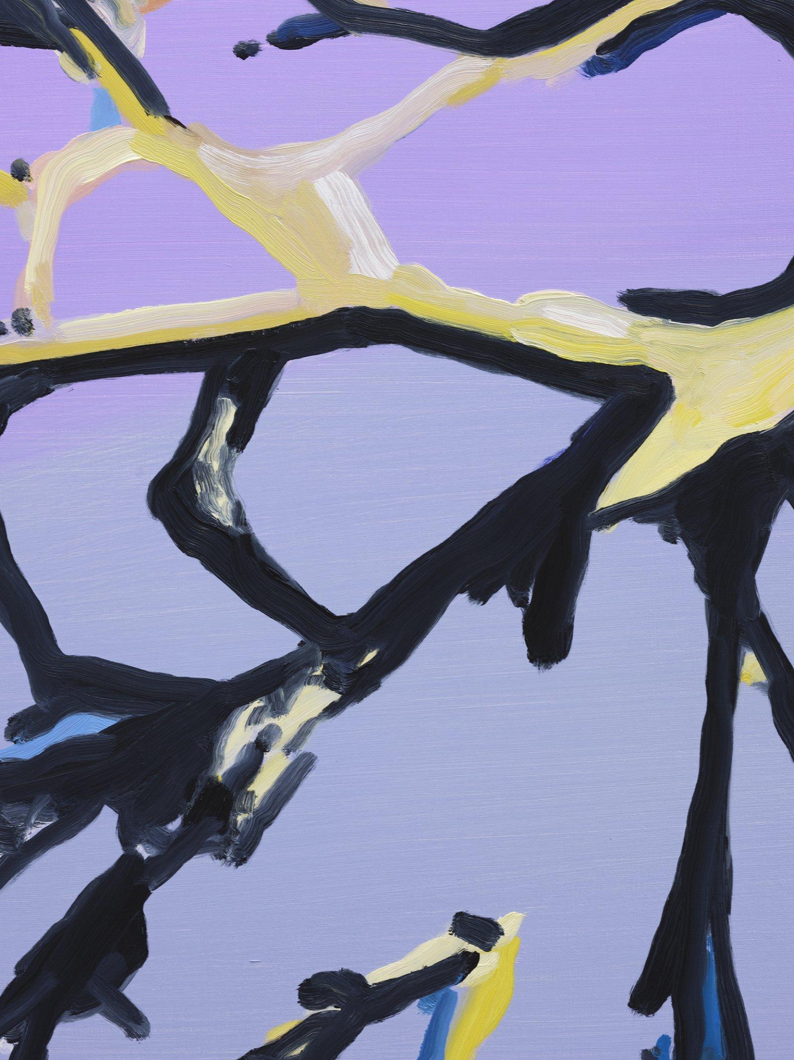 Elizabeth McIntosh, Bent Tree (detail), 2020, oil on canvas, 69 x 58 in. (175 x 147 cm) by Elizabeth McIntosh