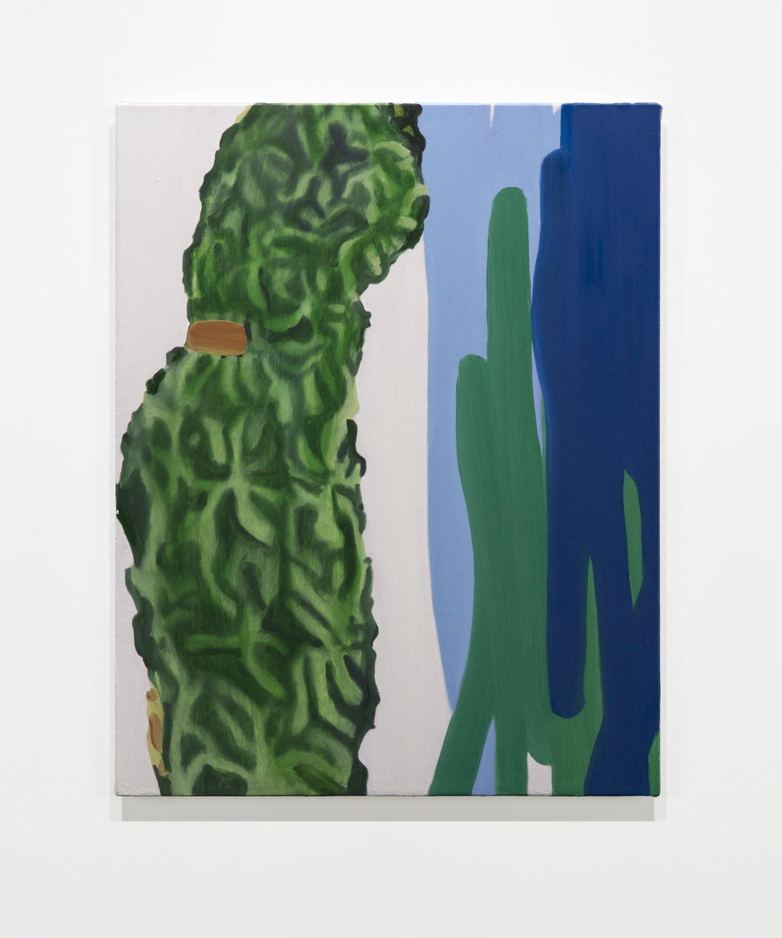 Elizabeth McIntosh, Blue, 2019, oil on canvas, 28 x 22 in. (71 x 56 cm) by Elizabeth McIntosh