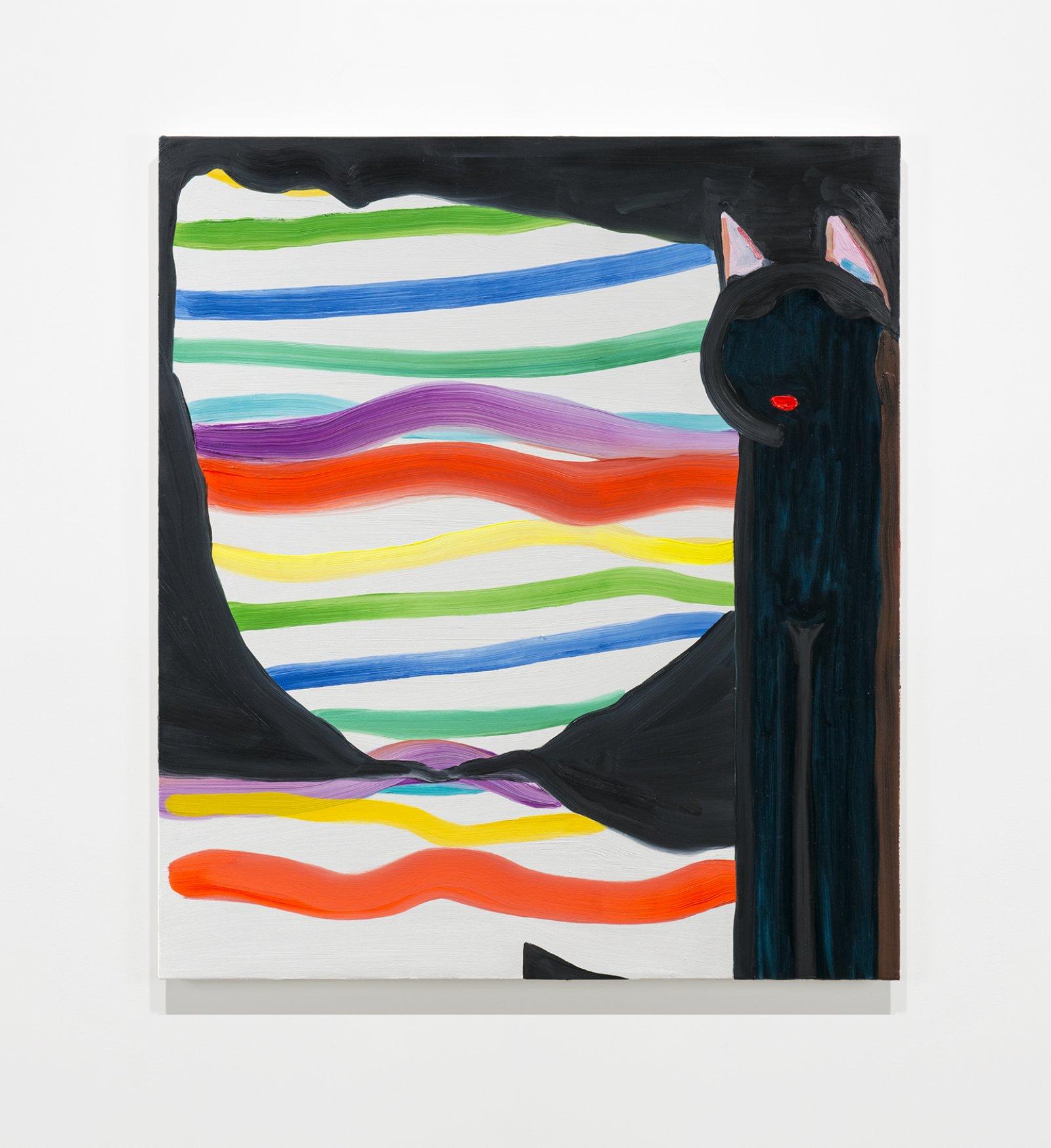 Elizabeth McIntosh, Cat, 2020, oil on canvas, 32 x 28 in. (81 x 71 cm) by Elizabeth McIntosh