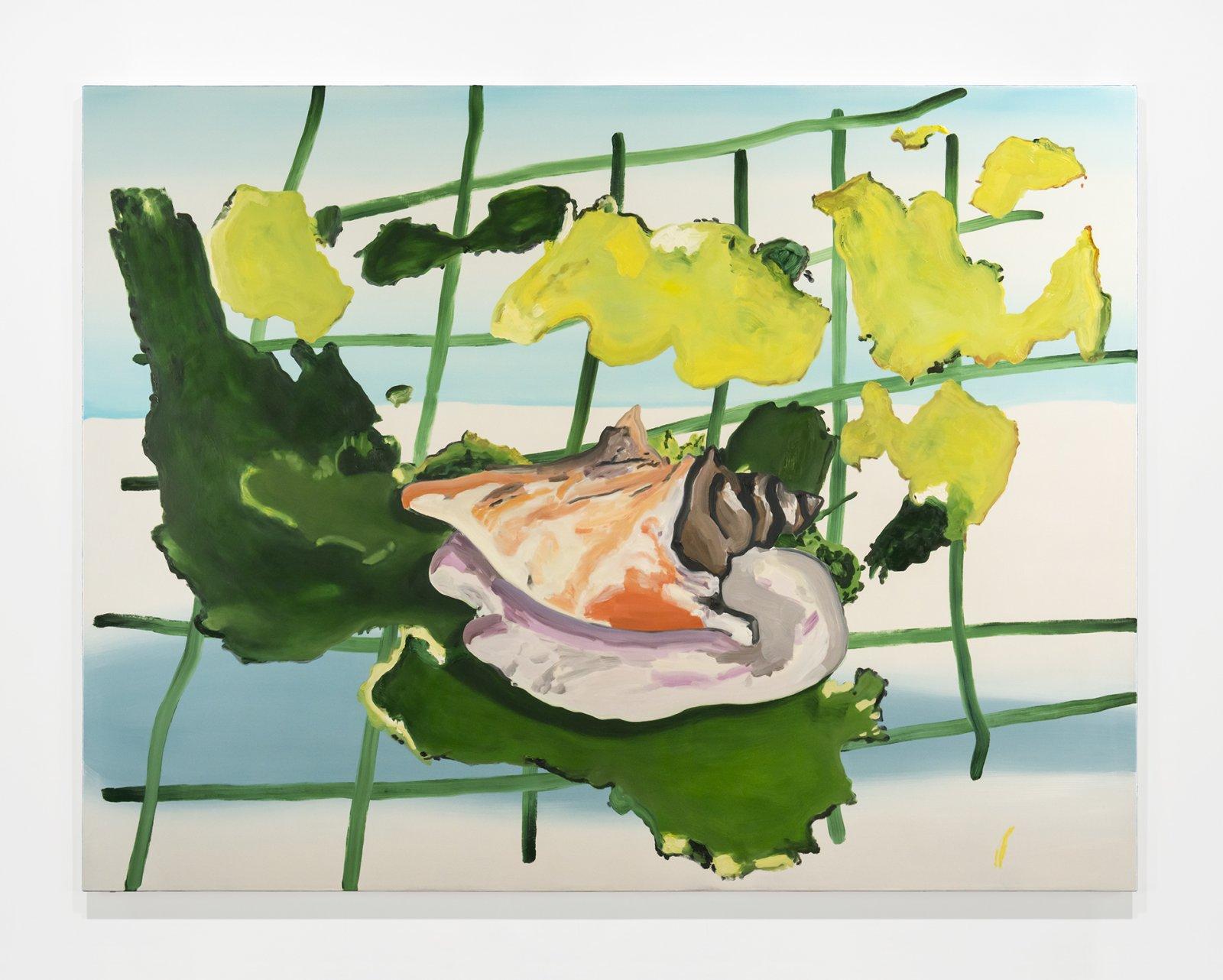 Elizabeth McIntosh, Conch, 2019, oil on canvas, 65 x 85 in. (165 x 216 cm) by Elizabeth McIntosh
