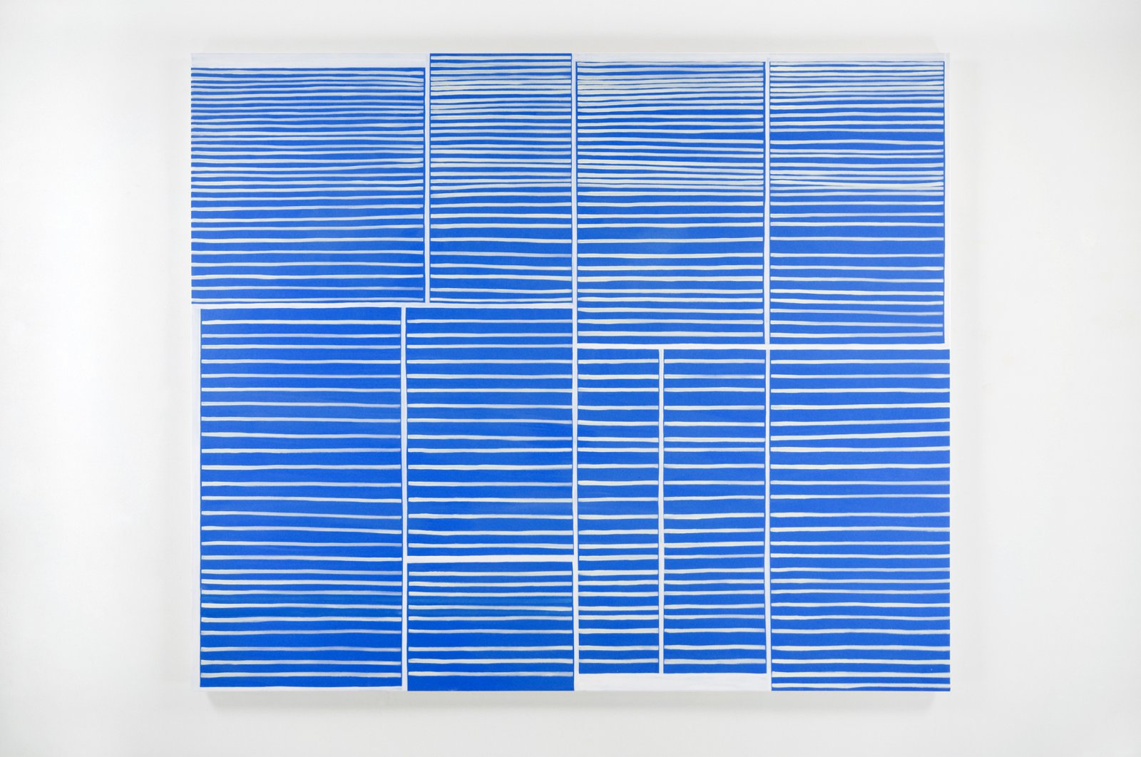 Elizabeth McIntosh, Differences Between Lines and Rectangles, 2010, oil on canvas, 75 x 80 in. (191 x 203 cm) by Elizabeth McIntosh