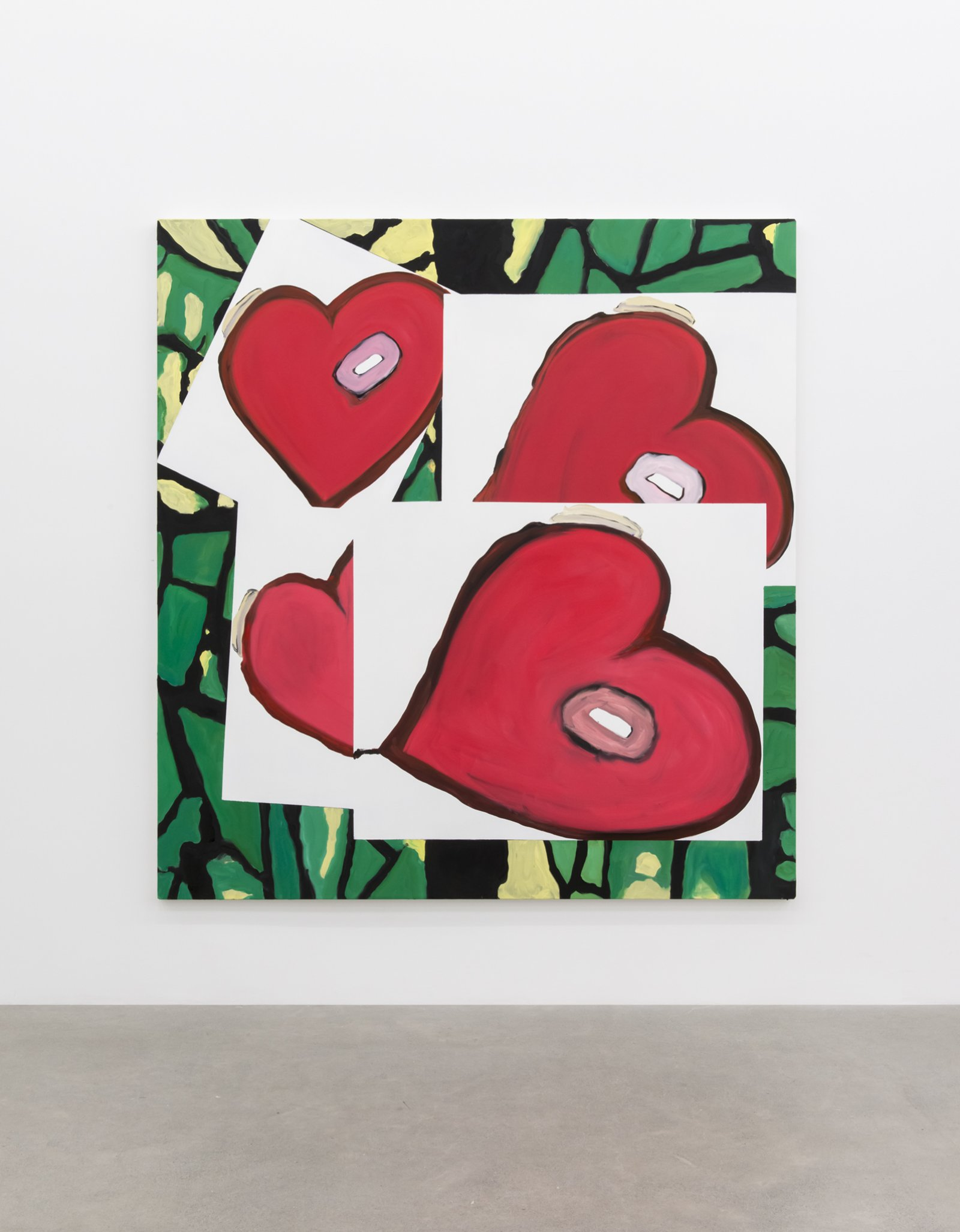 ​Elizabeth McIntosh, Heart, 2017, oil on canvas, 78 x 73 in. (199 x 186 cm) by Elizabeth McIntosh
