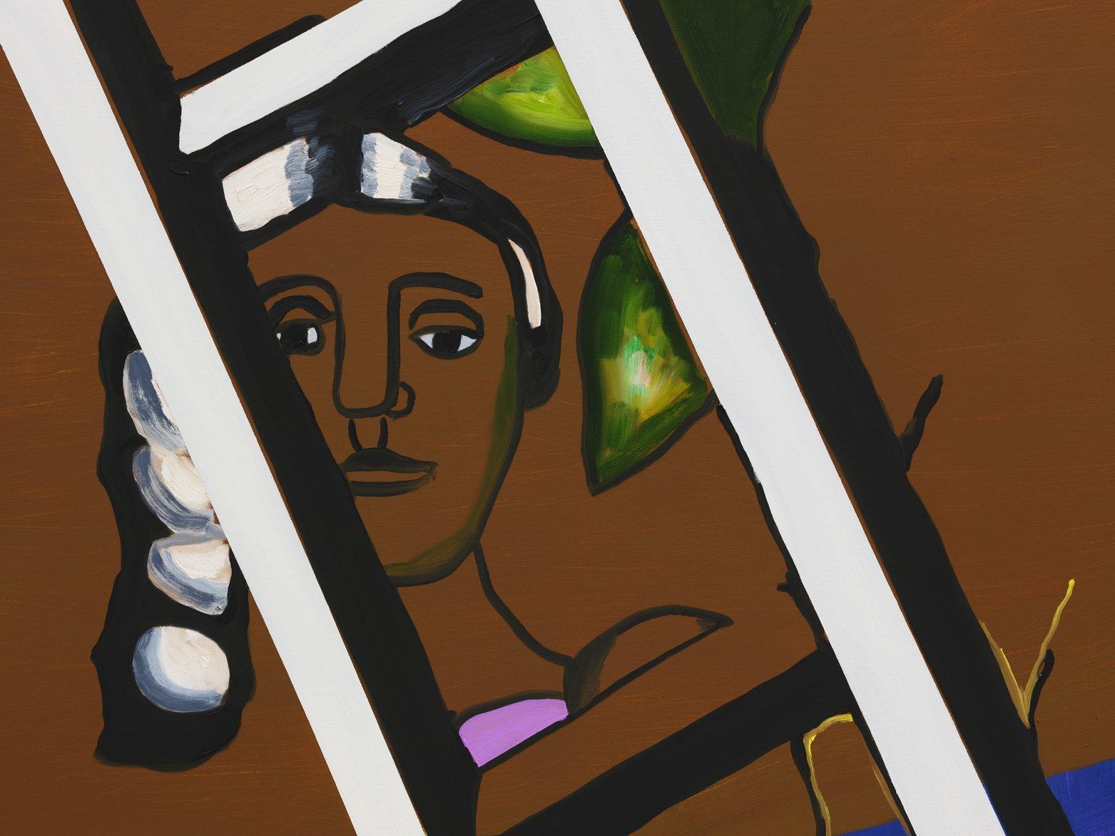 Elizabeth McIntosh, High (detail), 2020, oil on canvas, 81 x 59 in. (206 x 149 cm) by Elizabeth McIntosh