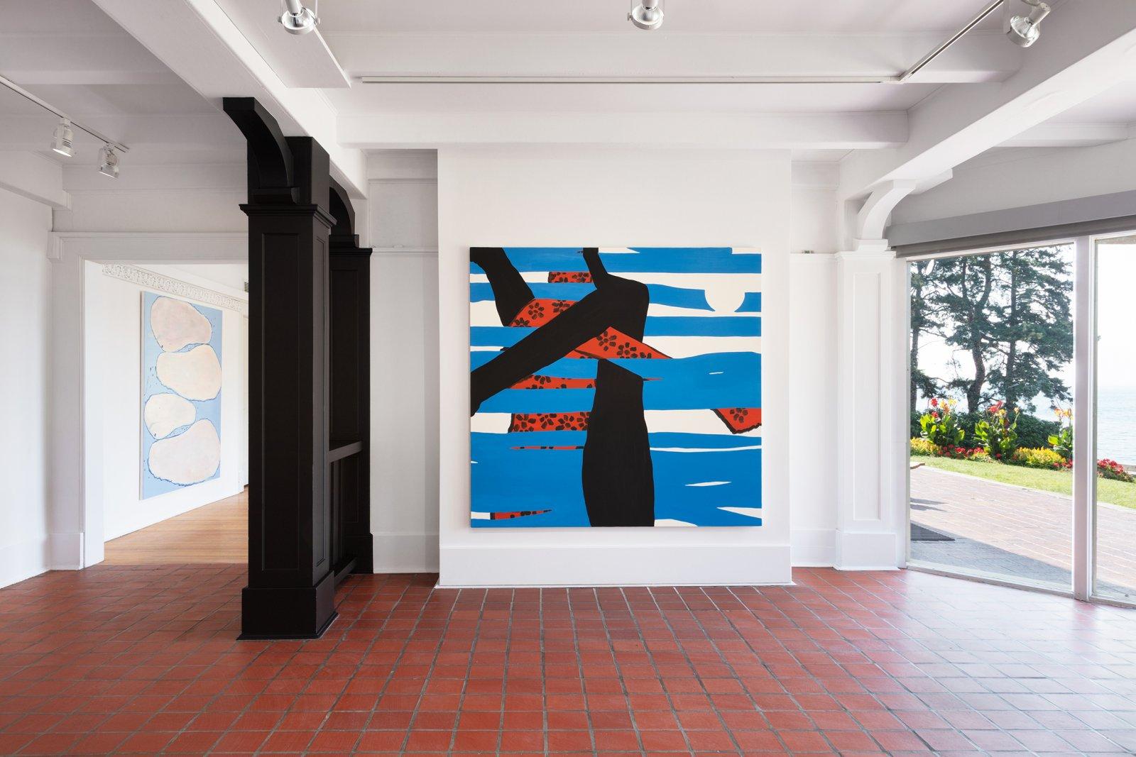 Elizabeth McIntosh, Hug, 2018, oil on canvas, 67 x 73 in. (170 x 185 cm) by Elizabeth McIntosh