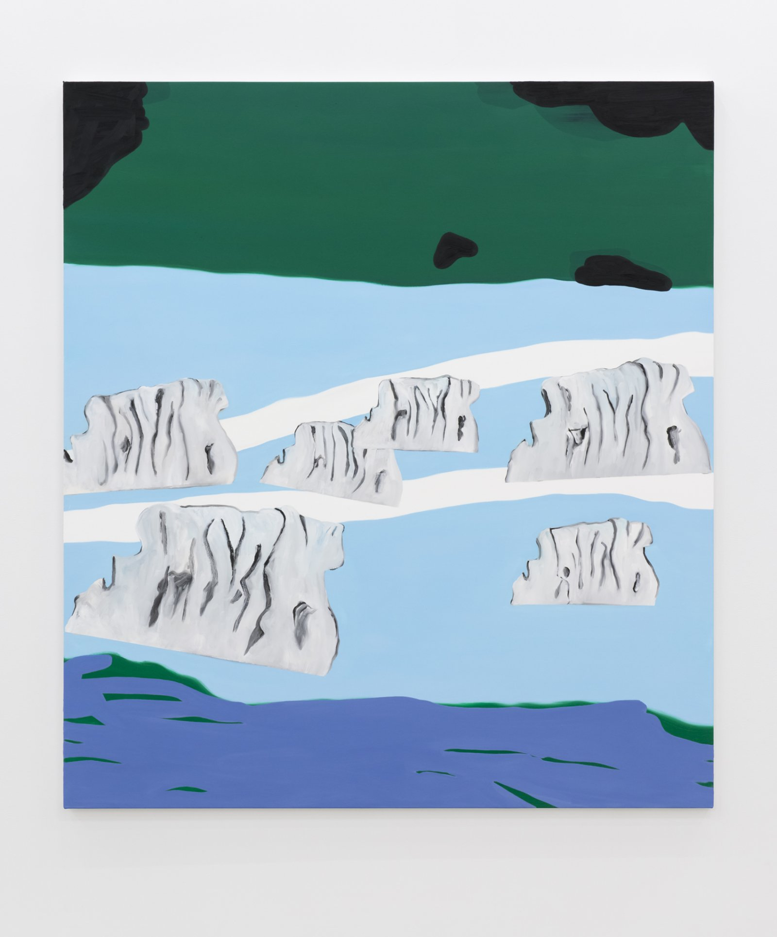 ​Elizabeth McIntosh, Icebergs, 2017, oil on canvas, 73 x 65 in. (186 x 165 cm) by Elizabeth McIntosh