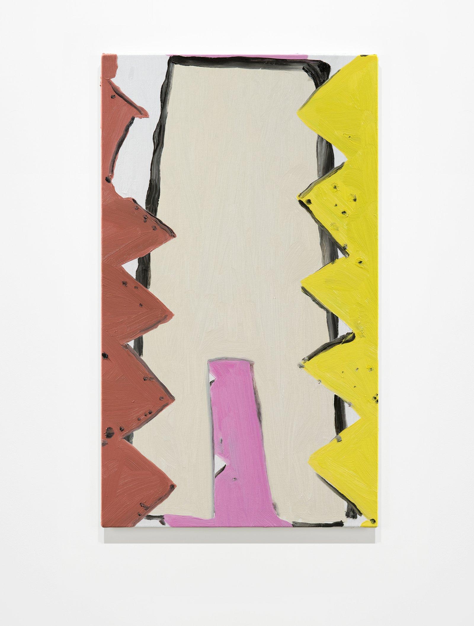 Elizabeth McIntosh, Jaws, 2020, oil on canvas, 29 x 17 in. (74 x 43 cm) by Elizabeth McIntosh