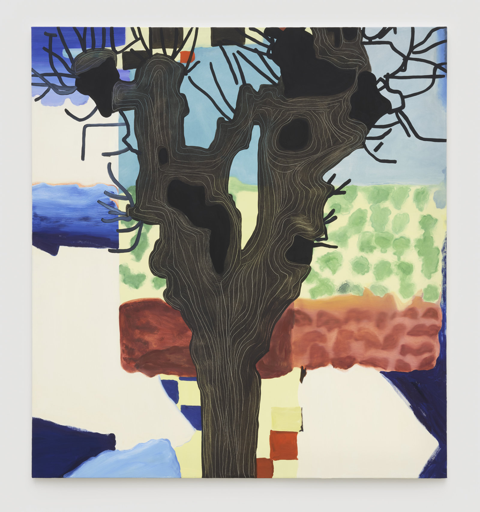 Elizabeth McIntosh, Knobby Tree, 2019, oil on canvas, 73 x 67 in. (185 x 170 cm) by Elizabeth McIntosh