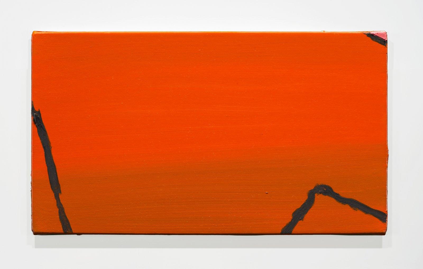 Elizabeth McIntosh, Orange, 2019, oil on canvas, 9 x 16 in. (23 x 41 cm) by Elizabeth McIntosh