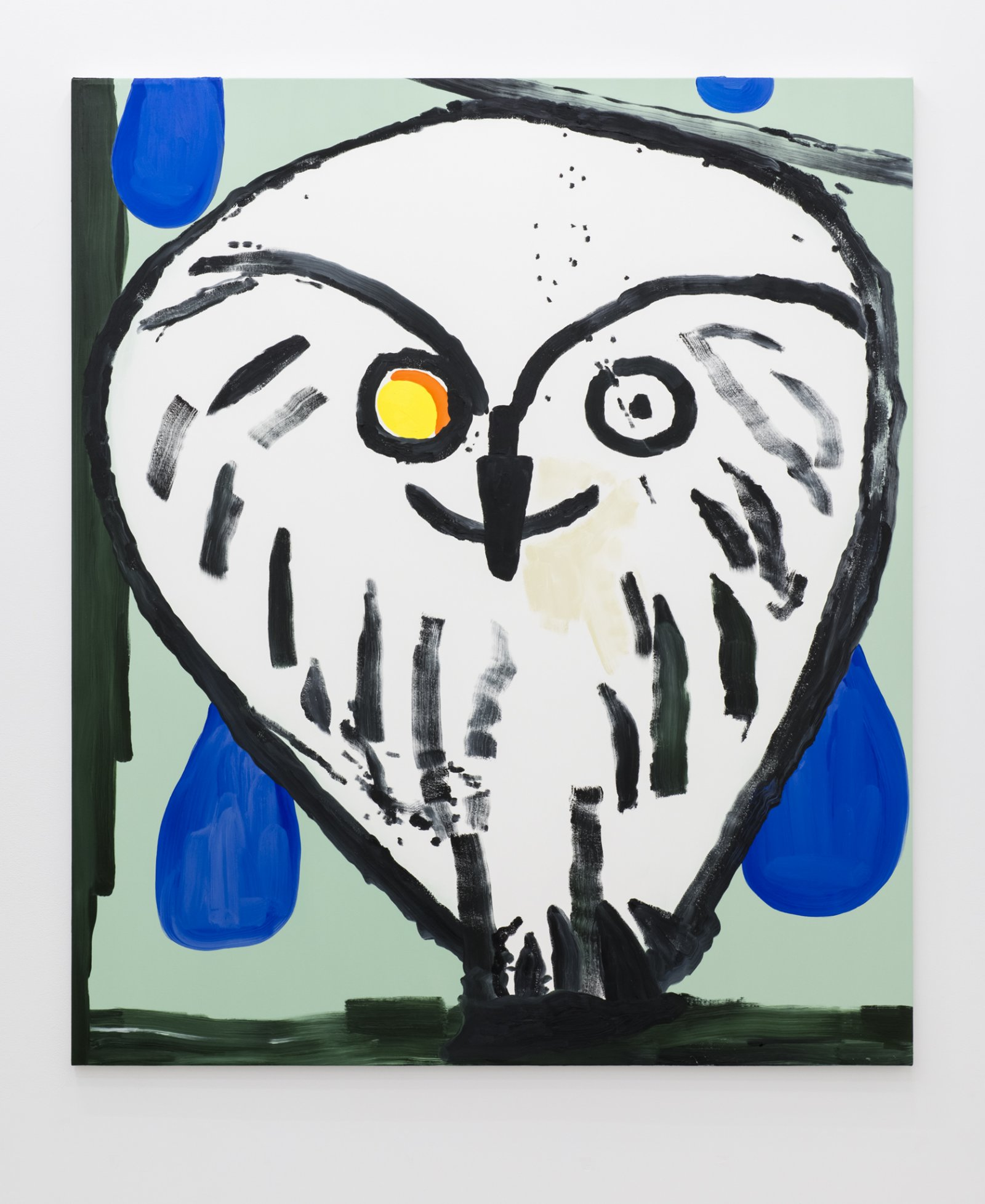​Elizabeth McIntosh, Owl Eye, 2017, oil on canvas, 74 x 63 in. (188 x 160 cm) by Elizabeth McIntosh