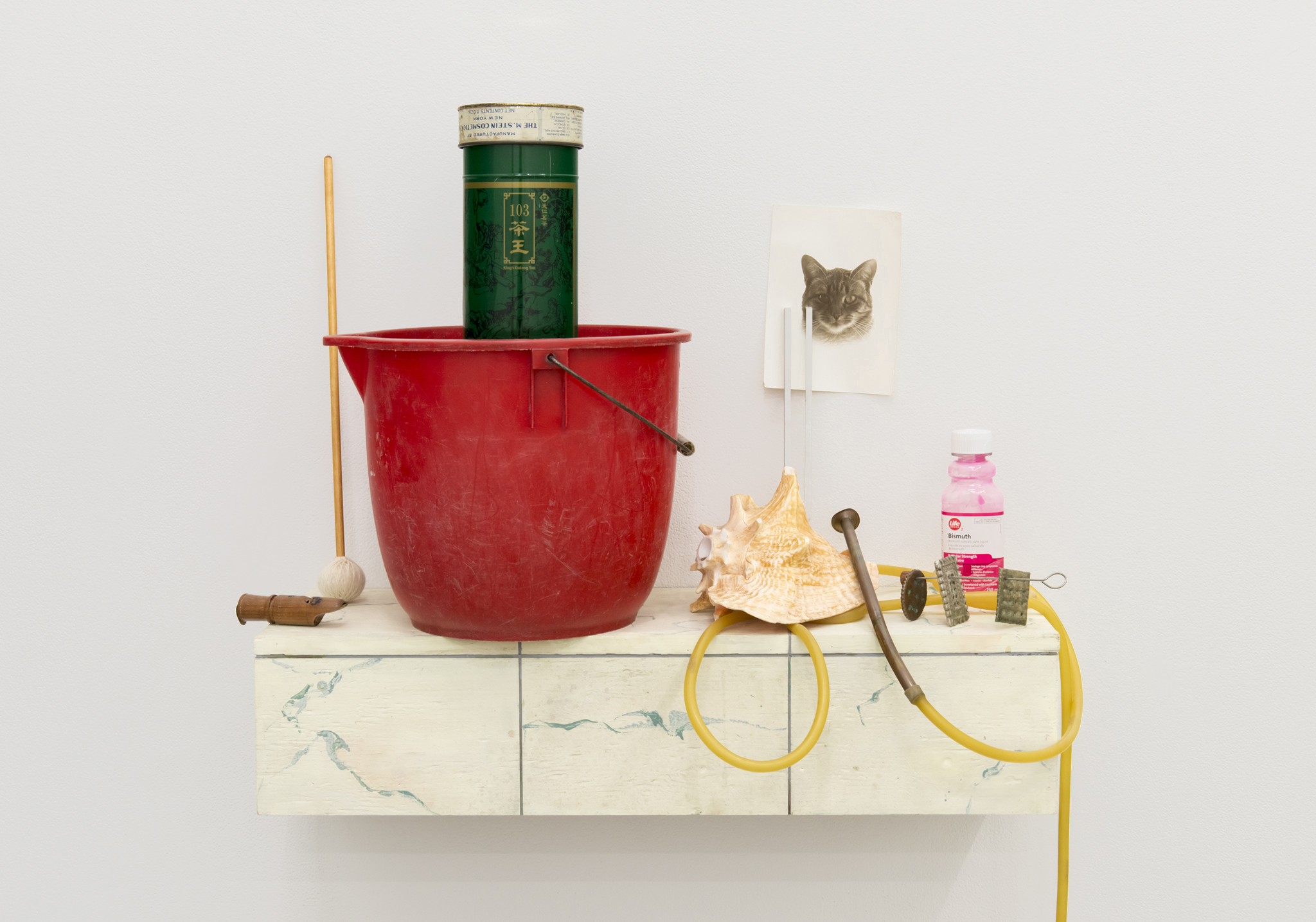 Ashes Withyman, Cetus, River, Furnas, Musca, Compass, Altar, Cup, 2017–2018, mixed media, 44 x 28 x 13 in. (112 x 71 x 33 cm)​ by