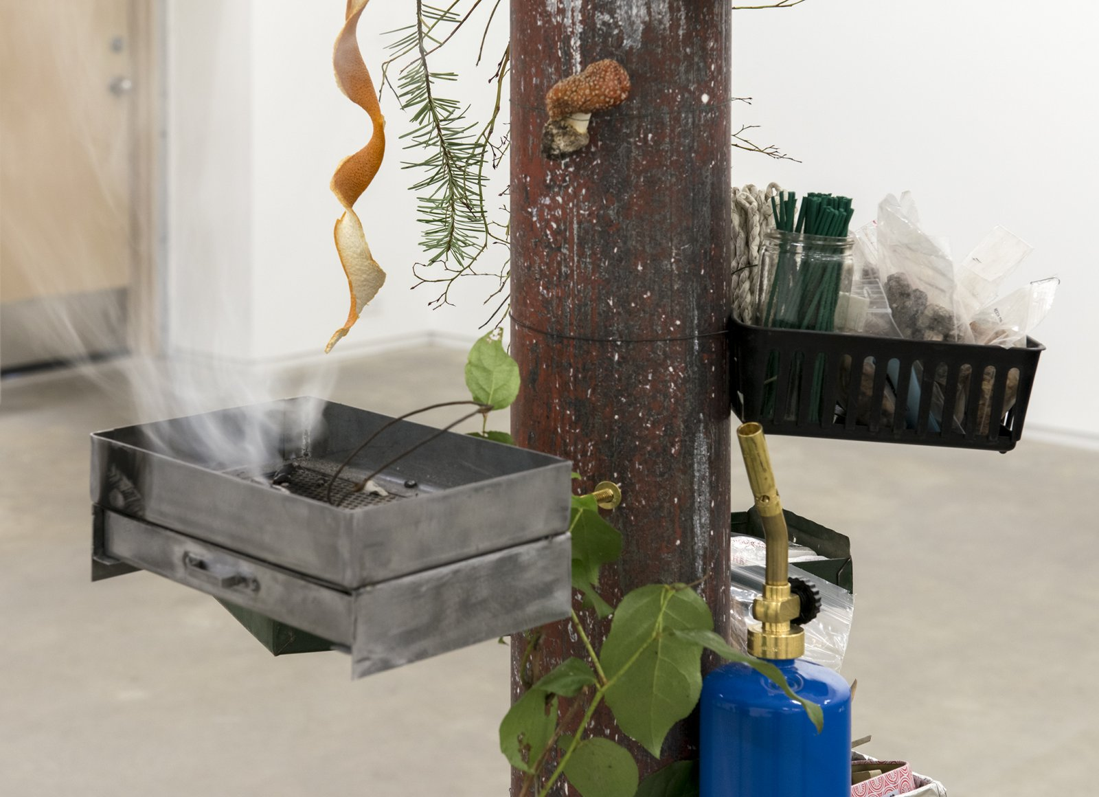 Gareth Moore, installation view, Household Temple Yard, Catriona Jeffries, 2013 ​​ by Ashes Withyman