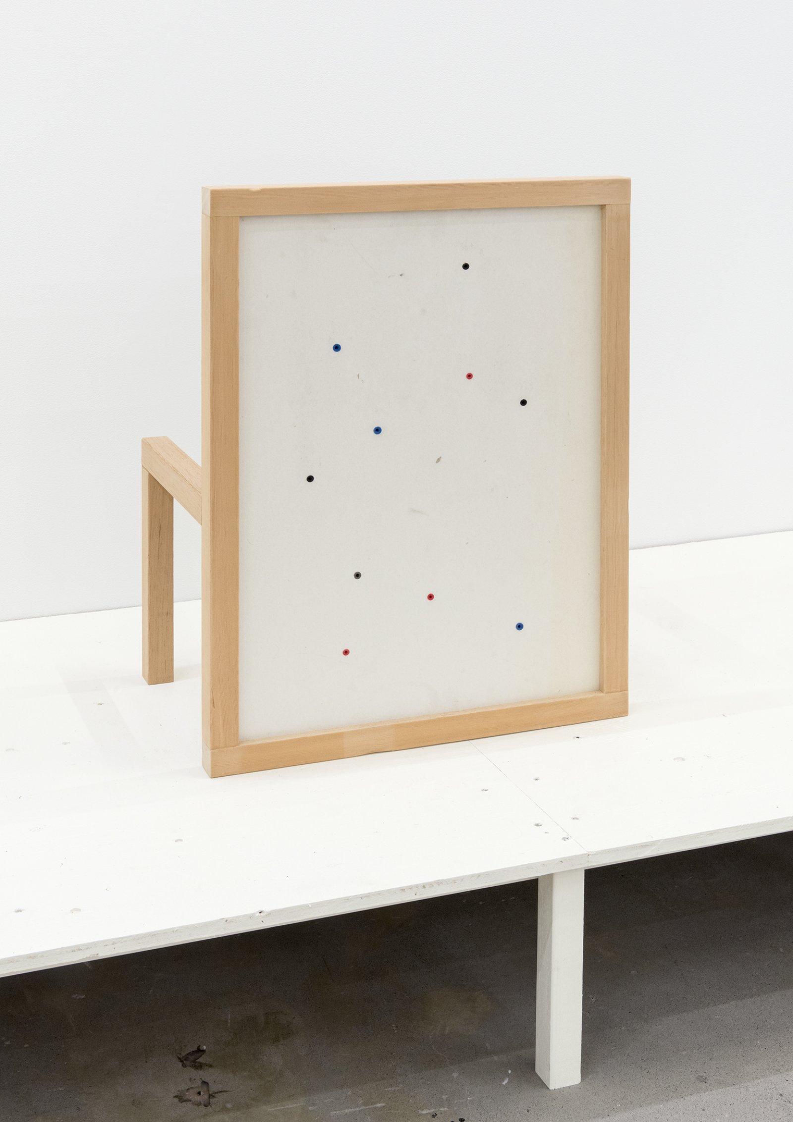 Gareth Moore, W-08F, 2013, gyprock, wallplugs, plywood, fir, 28 x 21 x 13 in. (70 x 53 x 33 cm) by Gareth Moore