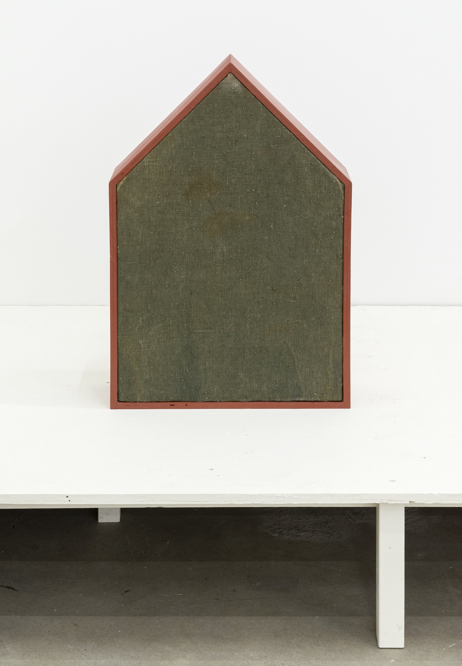Gareth Moore, WP-04 sP, 2013, hay, wood, guitar case fabric, paint, twine, 24 x 16 x 8 in. (61 x 41 x 20 cm)   by Ashes Withyman