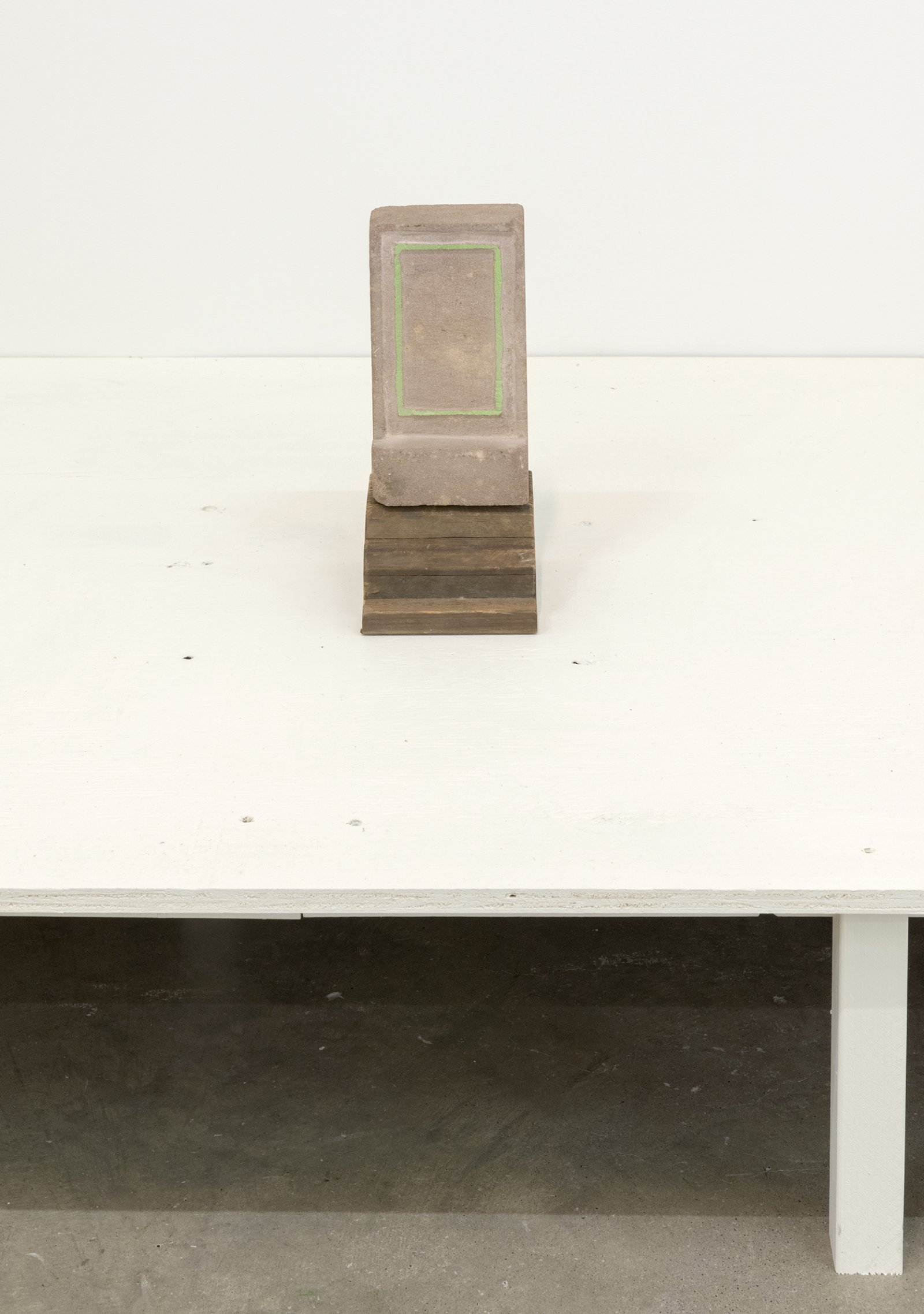 Gareth Moore, nS05, 2013, brick, paint, wood, 12 x 5 x 5 in. (29 x 12 x 13 cm)   by Ashes Withyman
