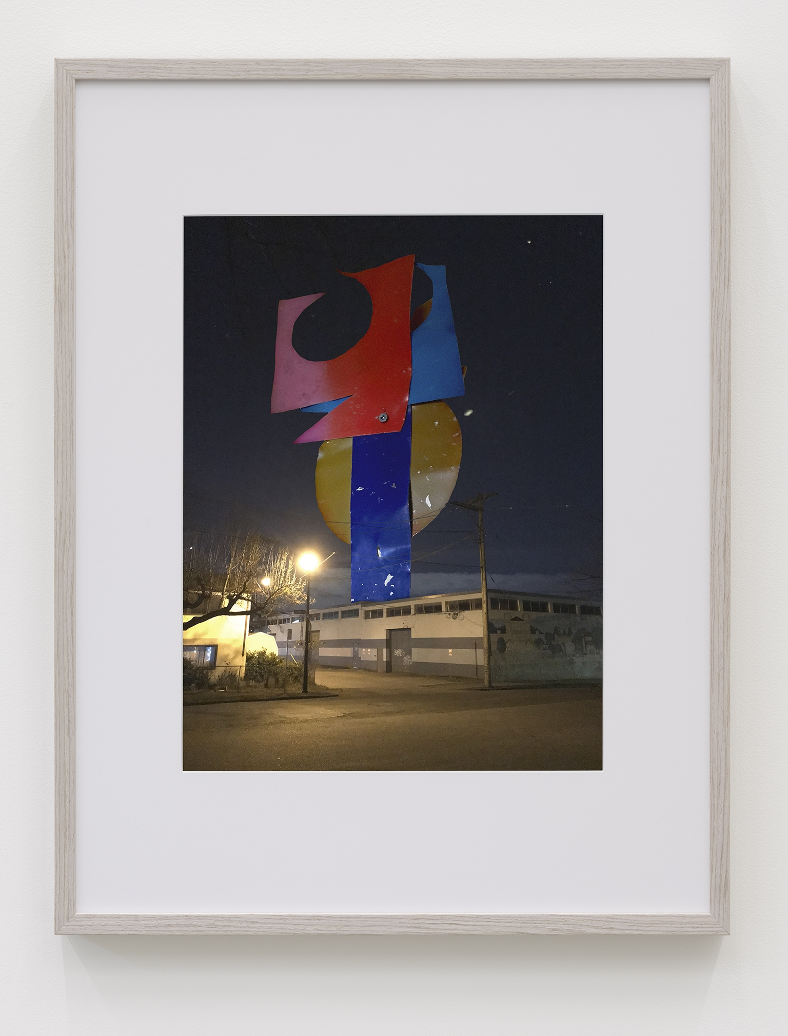 ​Damian Moppett, Night Monument A, 2019, inkjet print, 41 x 33 in. (104 x 84 cm) by
