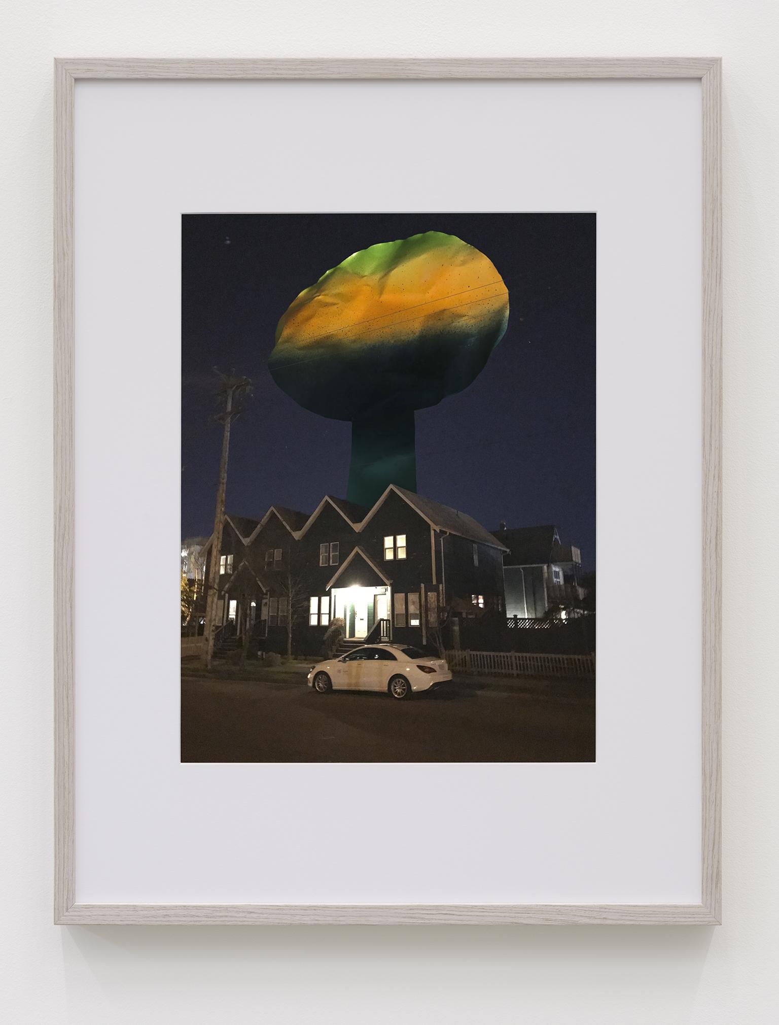 Damian Moppett, Night Monument B, 2019, inkjet print, 41 x 33 in. (104 x 84 cm) by