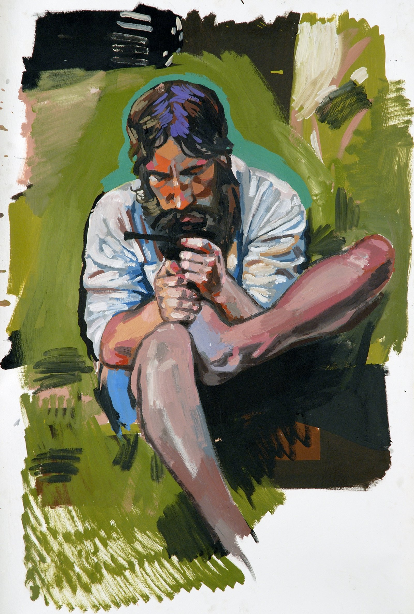 Damian Moppett, 1815/1962 Self Portrait, 2006, oil on paper, 52 x 37 in. (132 x 93 cm) by Damian Moppett