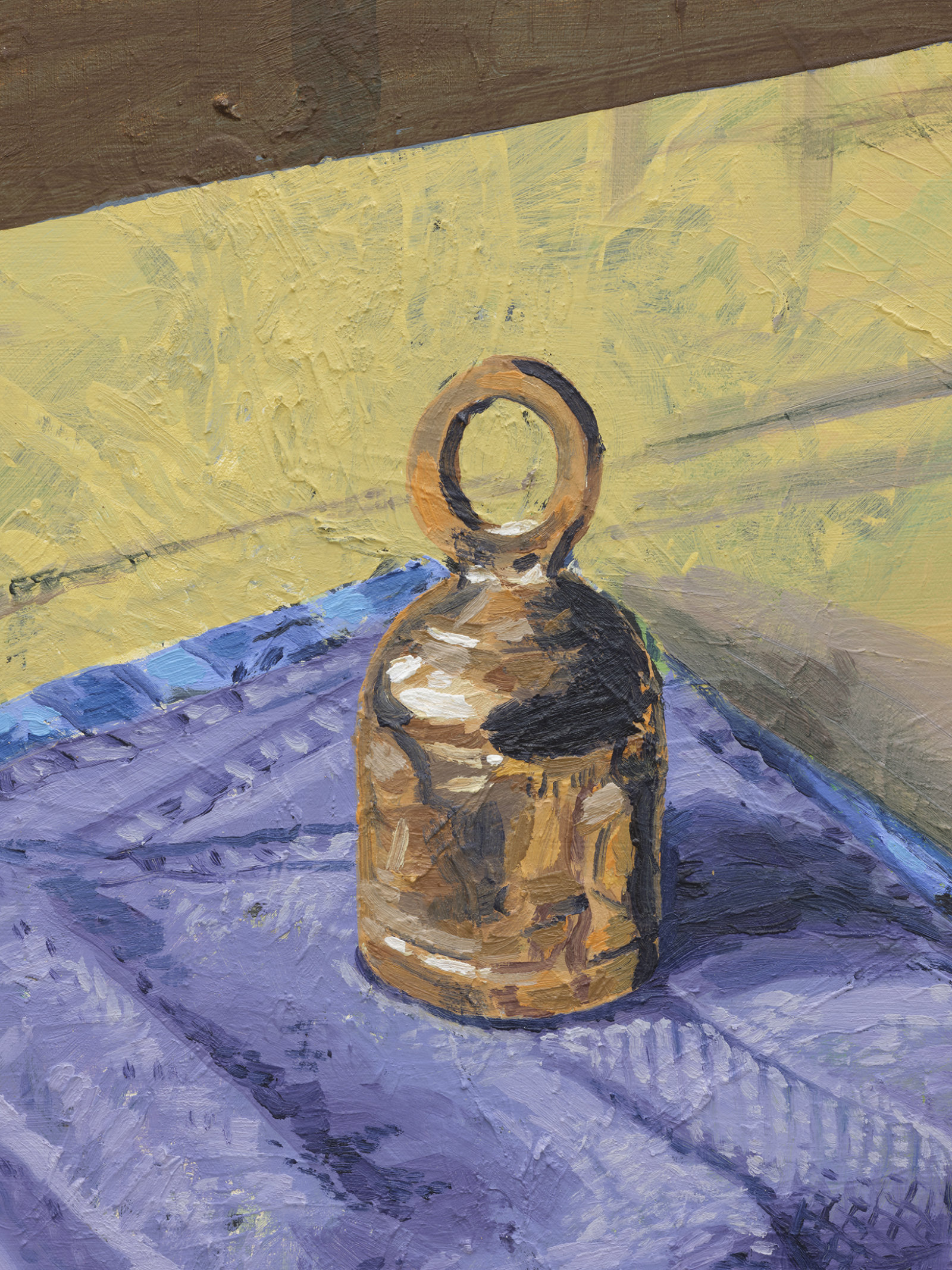 Damian Moppett, Bell and Towels (detail), 2020, oil on canvas, 30 x 27 in. (76 x 69 cm) by Damian Moppett