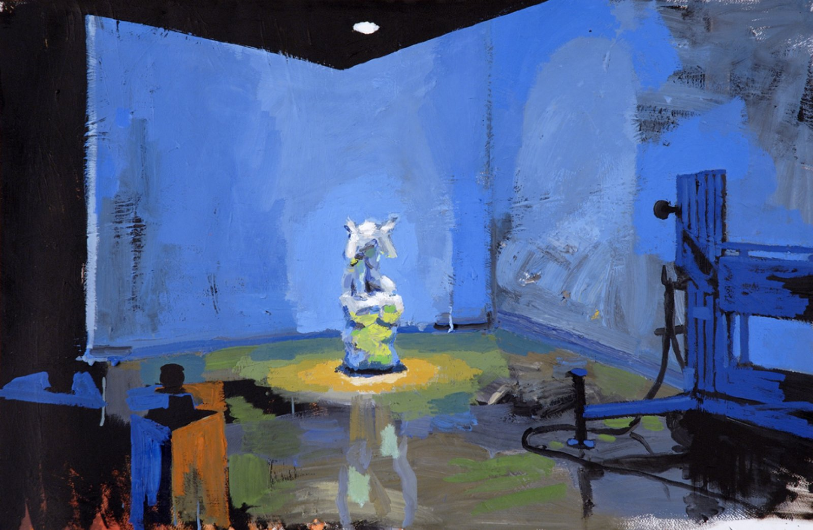 Damian Moppett, Caryatid at Carleton, 2006, oil on paper, 28 x 40 in. (71 x 102 cm) by Damian Moppett