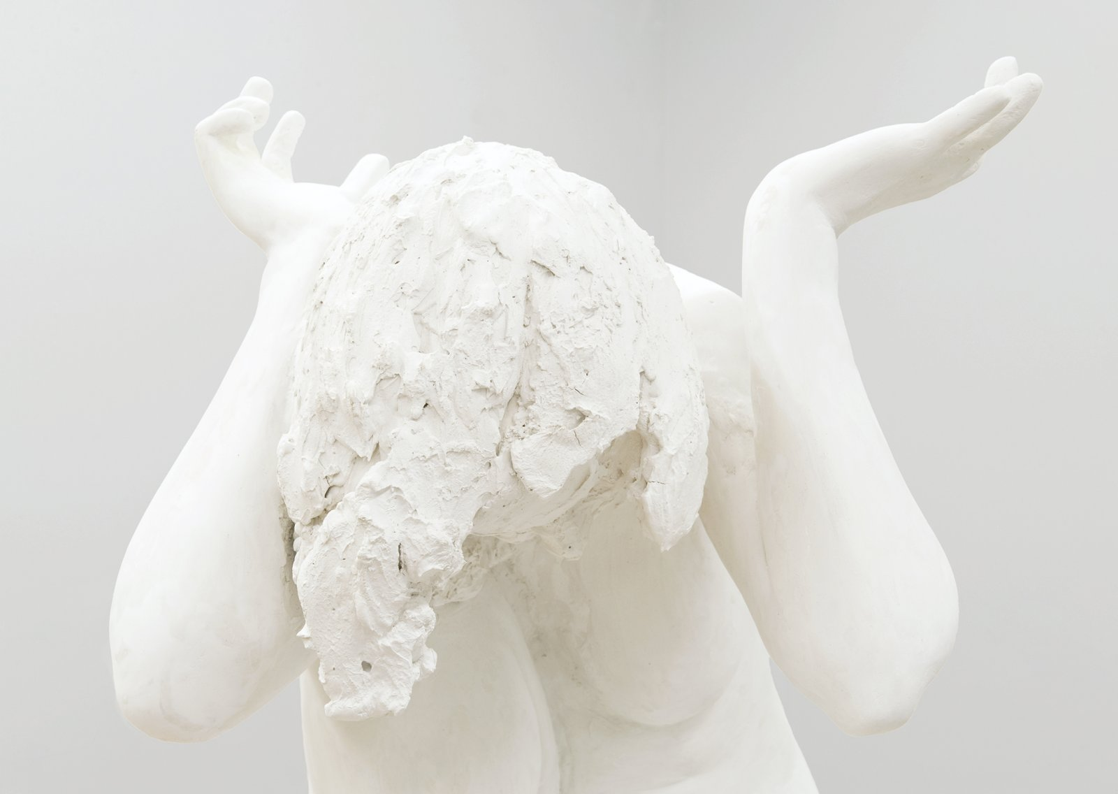 Damian Moppett, Fallen Caryatid (detail), 2006, plaster, 72 x 36 x 38 in. (183 x 91 x 97 cm) by Damian Moppett