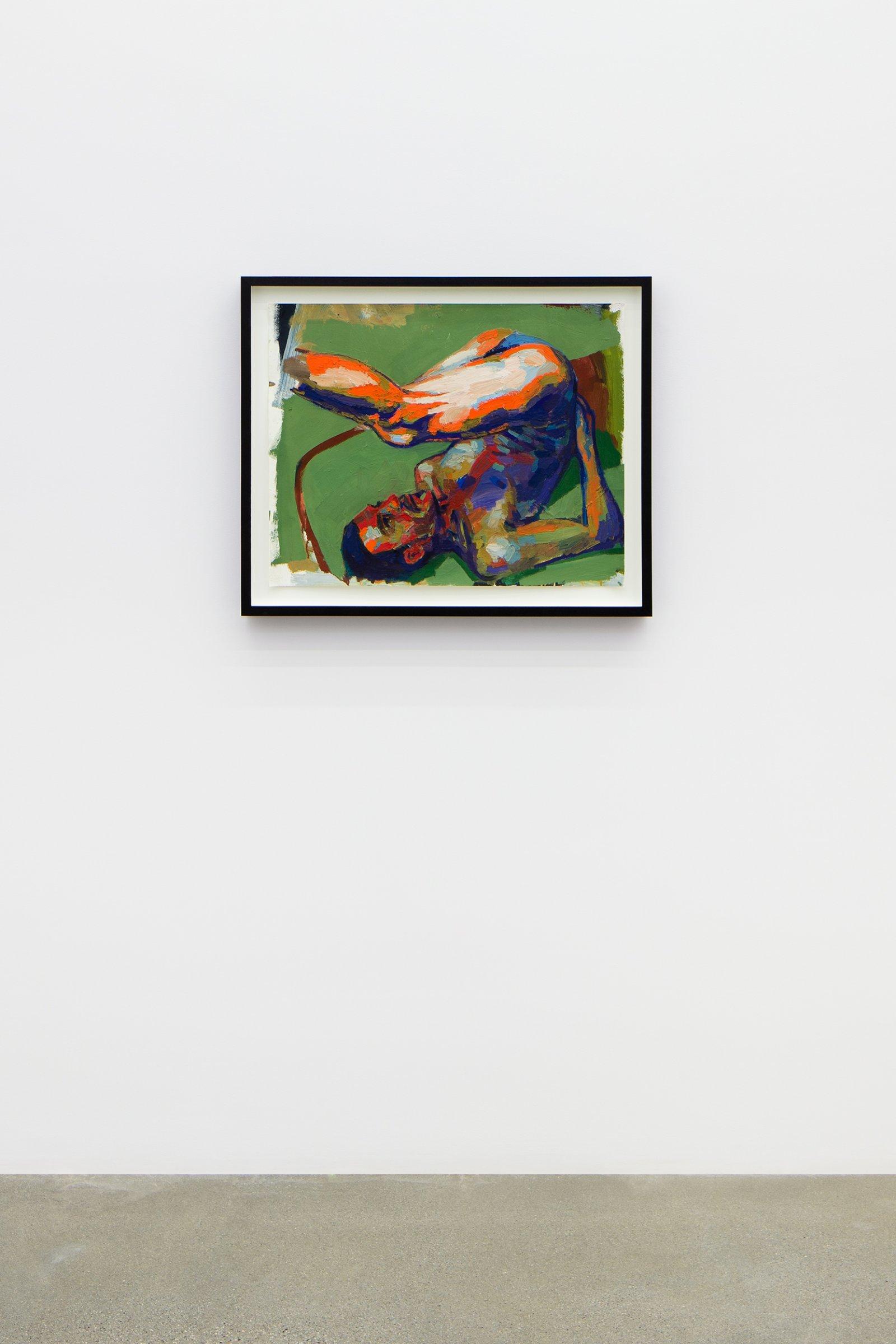 Damian Moppett, Figure Study for Acrobat, 2006, oil on paper, 28 x 33 in. (70 x 84 cm) by Damian Moppett