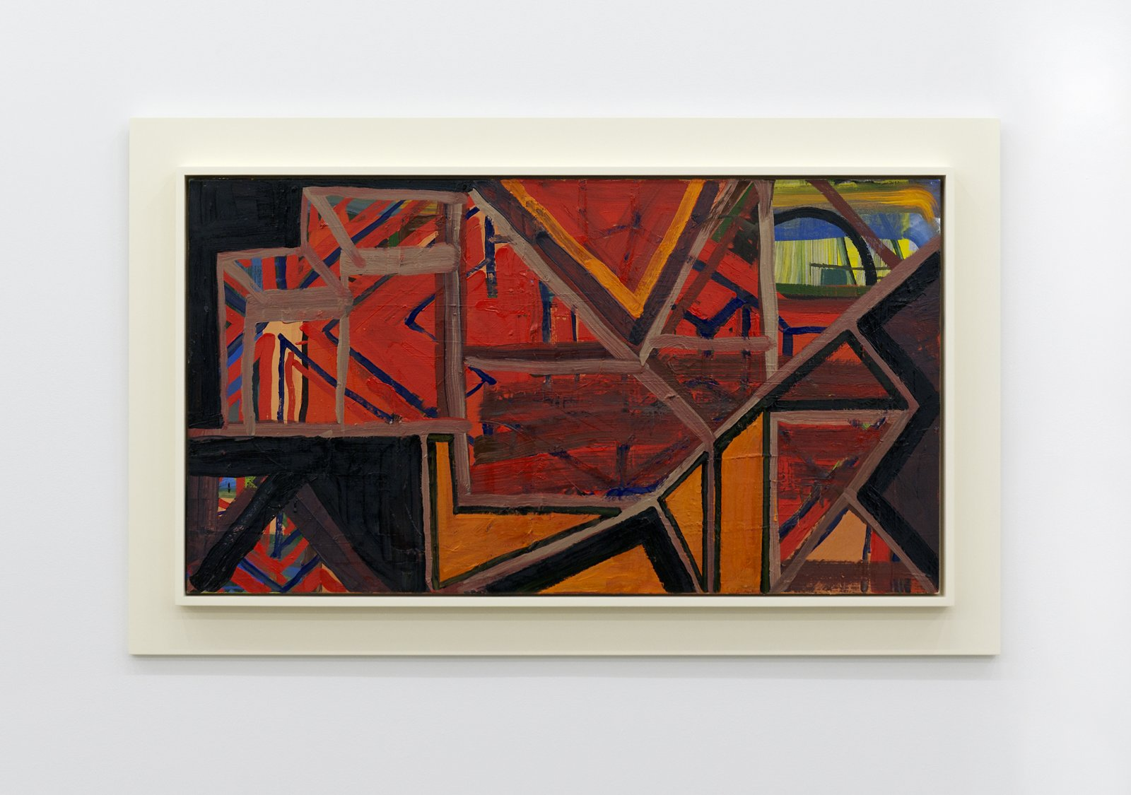 Damian Moppett, Horizontal Abstraction, 2010, oil on canvas and wood frame, 32 x 52 in. (80 x 132 cm) by Damian Moppett