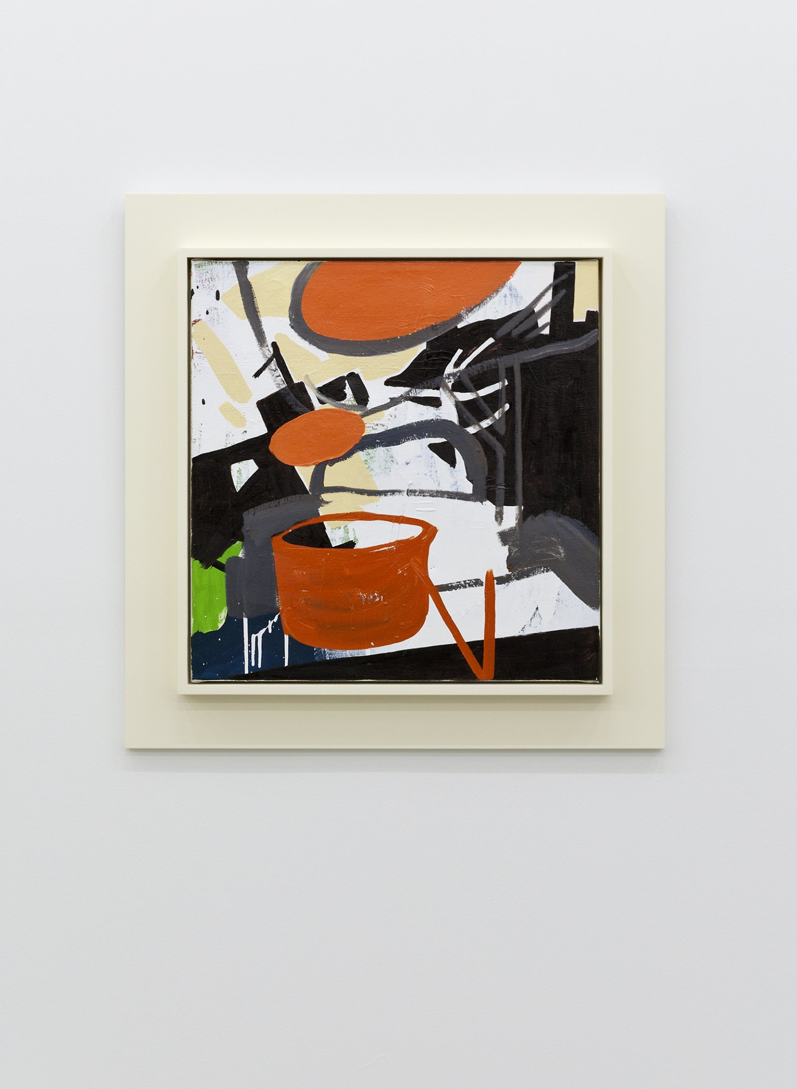 Damian Moppett, Lights in Studio, 2010, oil and enamel on linen and wood frame, 30 x 30 in. (75 x 75 cm) by Damian Moppett