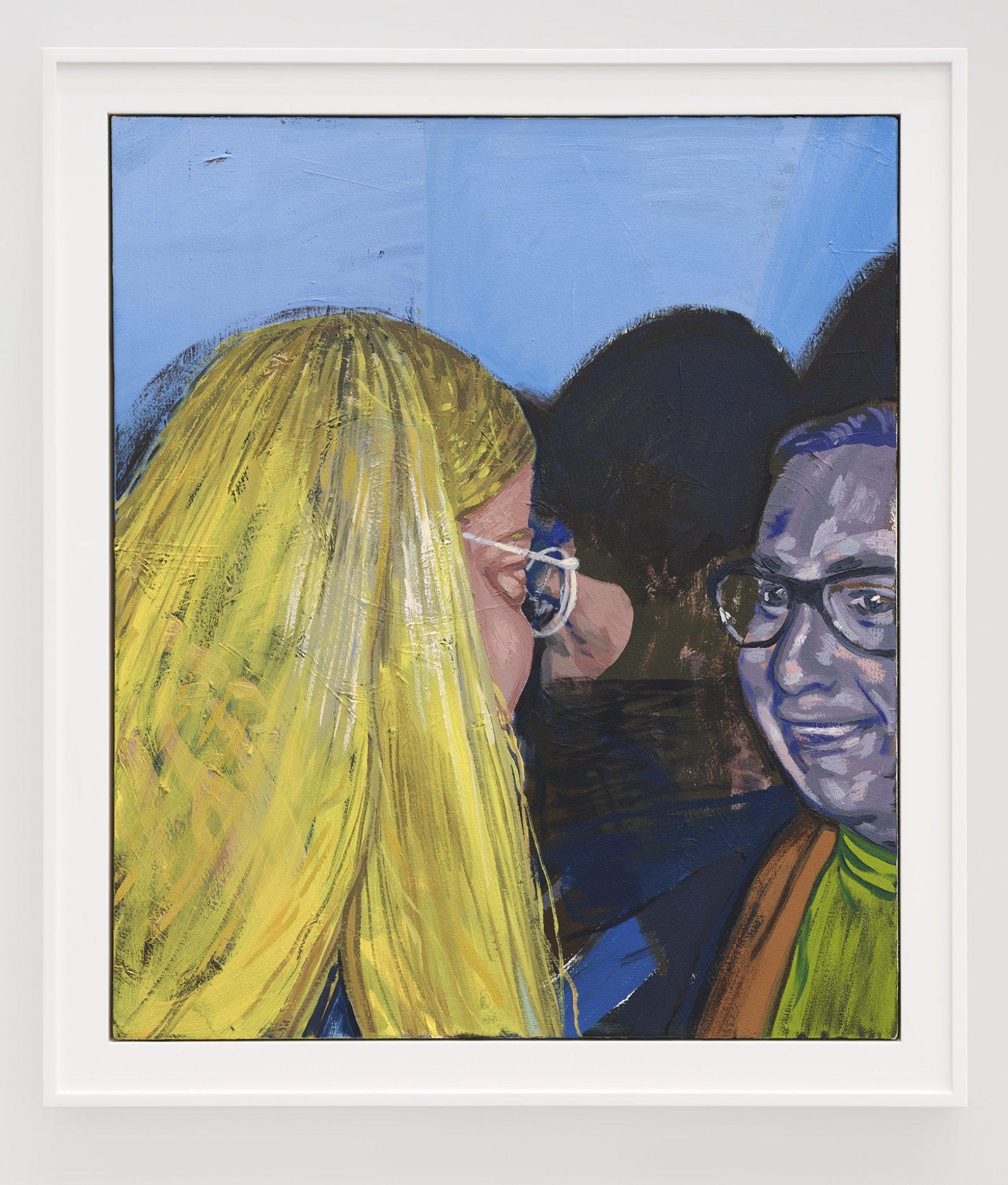 Damian Moppett, Little Blonde Head, 2020, oil on canvas, 32 x 27 in. (81 x 69 cm) by Damian Moppett