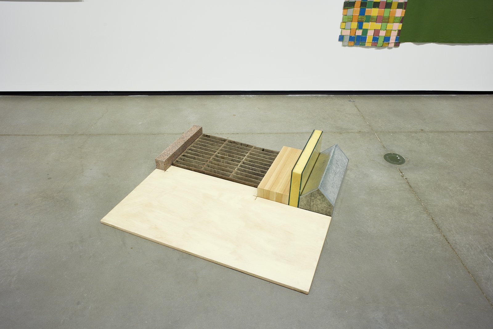 Ron Moppett, Range, 1978, plywood, marble, iron grill, wood, glass, sheet foam, tin, 10 x 40 x 45 in. (25 x 102 x 114 cm). Installation view, Every Story Has Two Sides, Art Gallery of Alberta, Edmonton, 2016 by Damian Moppett
