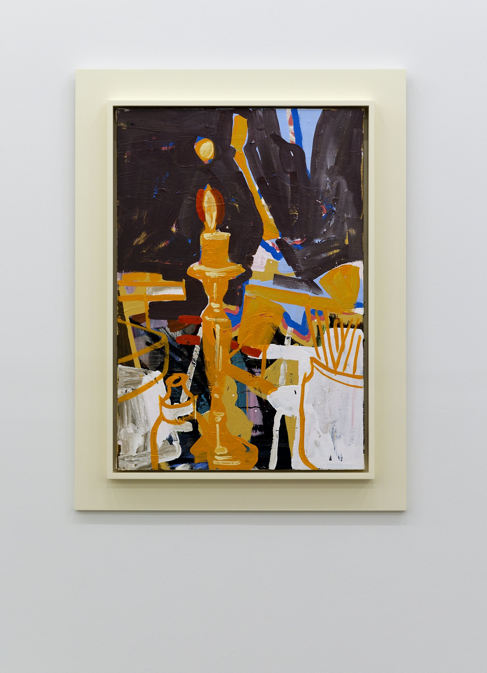 Damian Moppett, Orange Candle, 2010, oil and enamel on linen and wood frame, 40 x 30 in. (100 x 76 cm) by Damian Moppett