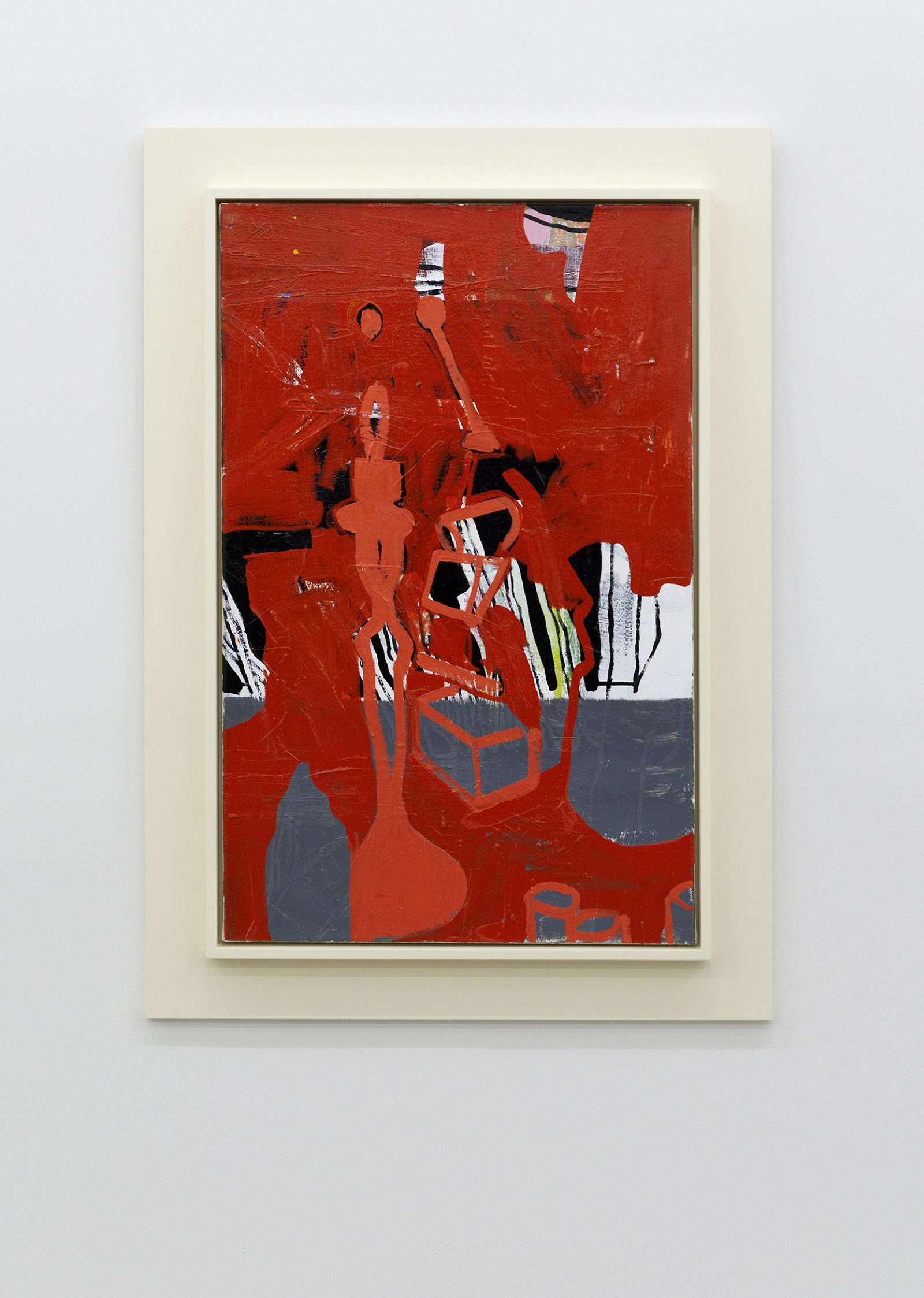 Damian Moppett, Red Candle, 2010, oil and enamel on linen and wood frame, 42 x 30 in. (105 x 76 cm)​​ by Damian Moppett