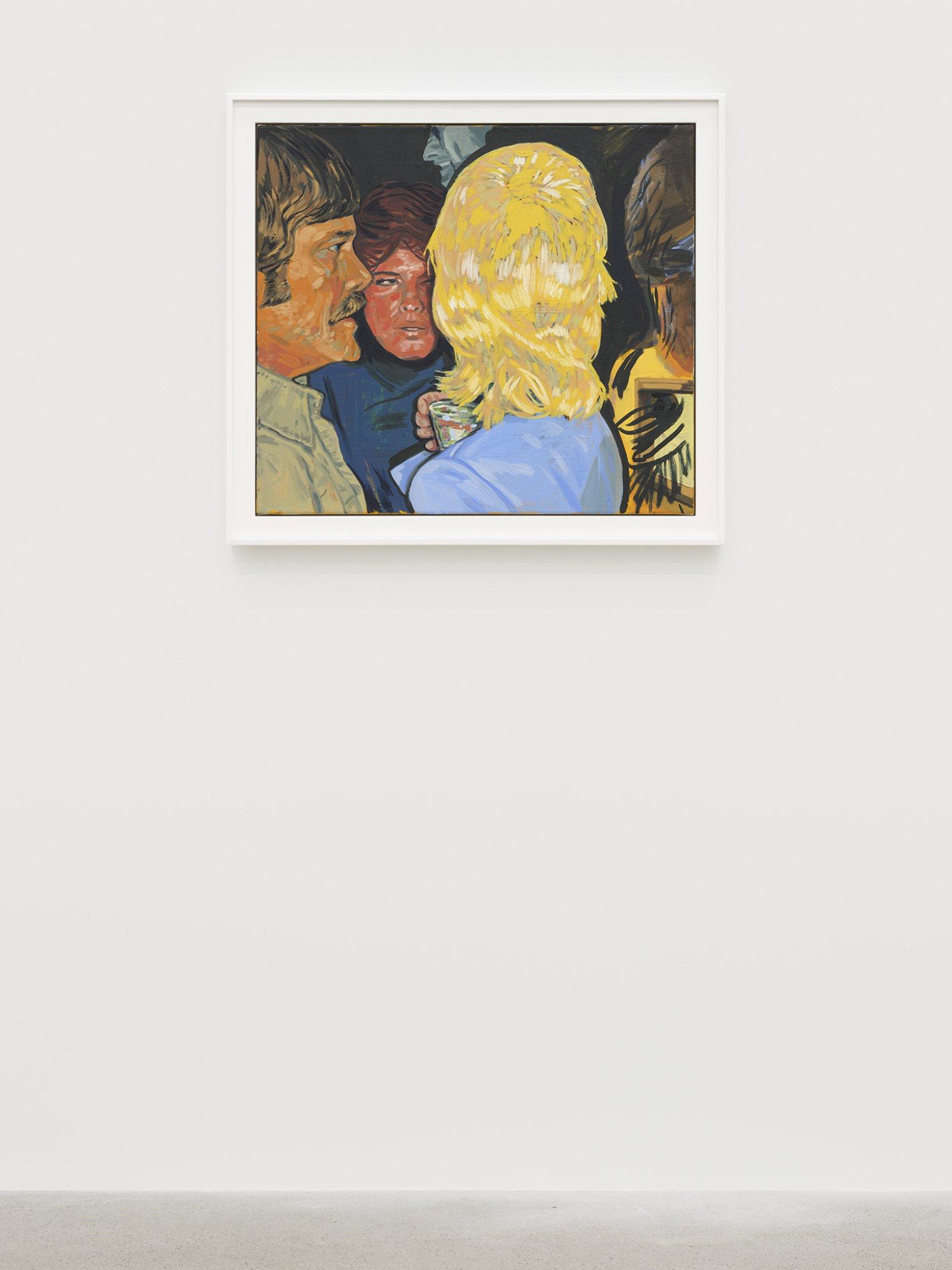 Damian Moppett, Small Party, 2020, oil on canvas, 30 x 33 in. (76 x 84 cm) by Damian Moppett