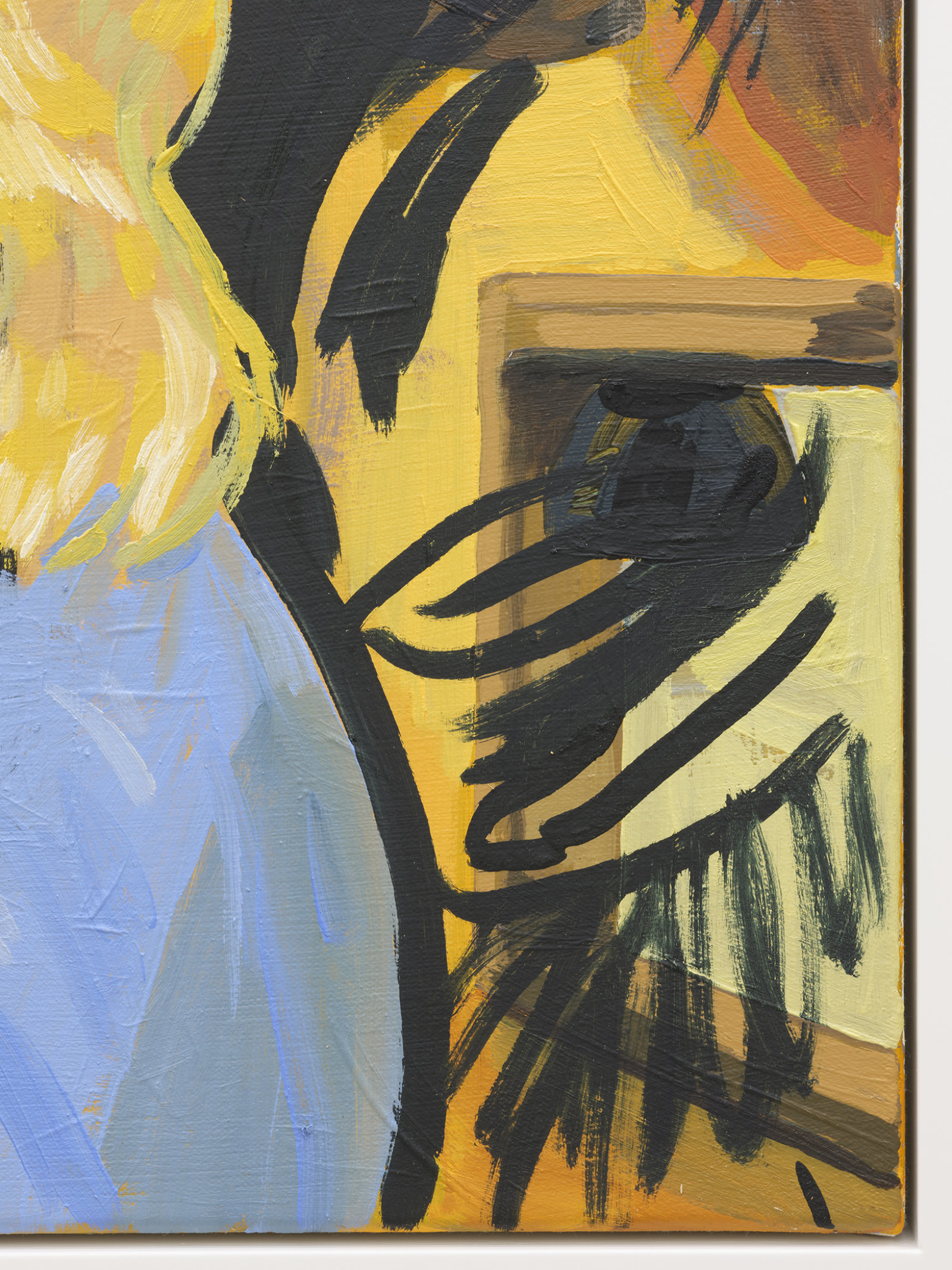 Damian Moppett, Small Party (detail), 2020, oil on canvas, 30 x 33 in. (76 x 84 cm) by Damian Moppett