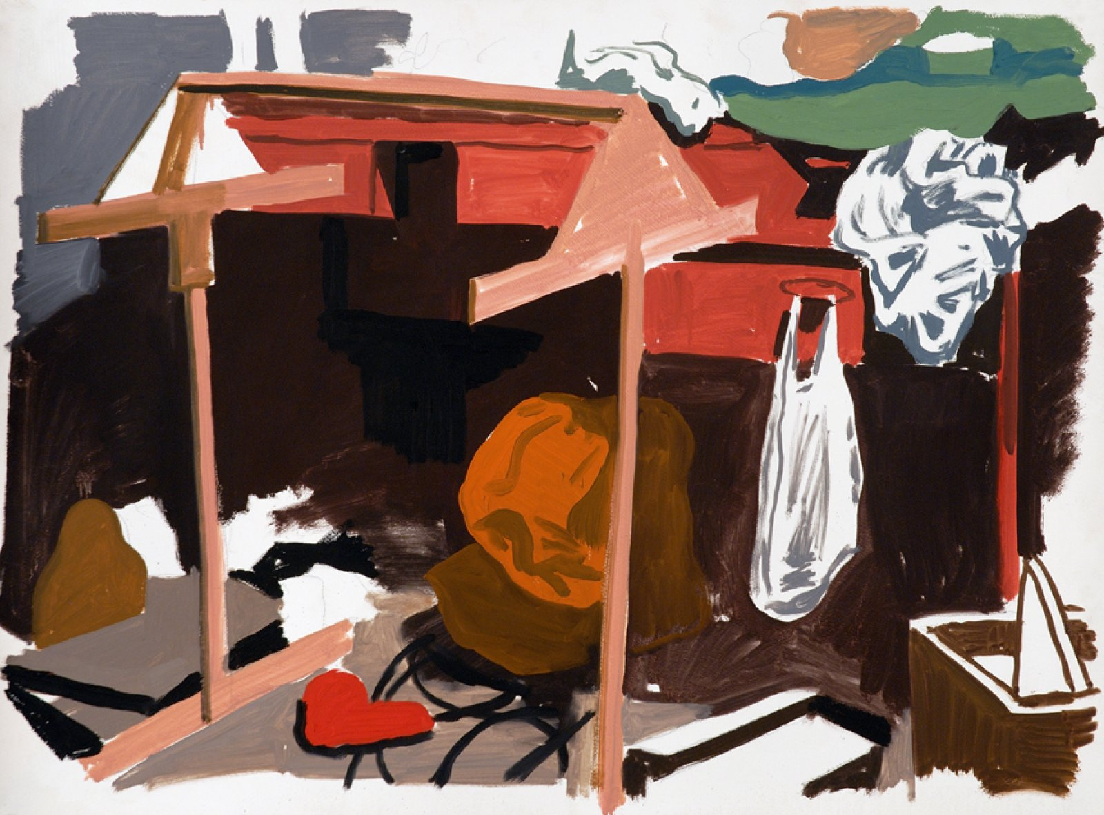 Damian Moppett, Studio, 2006, oil on paper, 29 x 37 in. (73 x 94 cm) by Damian Moppett