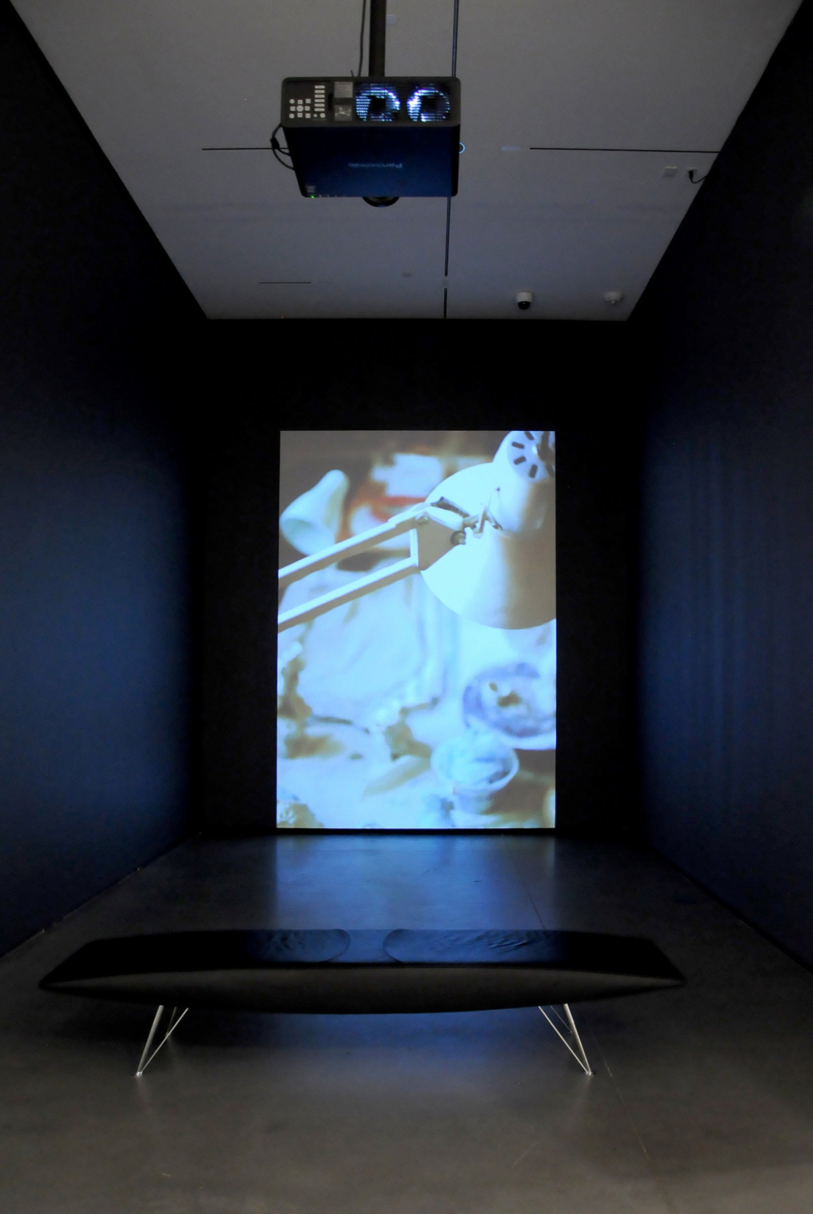 Damian Moppett, The Bells, 2014, video, 20 minutes, 22 seconds. Installation view, Every Story Has Two Sides, Art Gallery of Alberta, Edmonton, 2016 by Damian Moppett