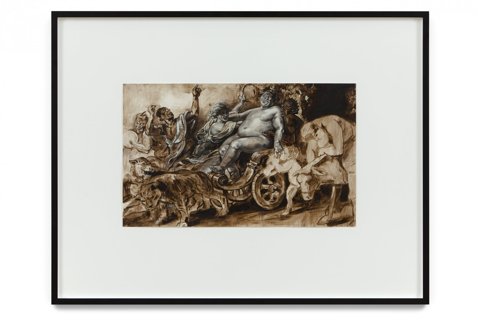 Damian Moppett, The Triumph of Bacchus (After Rubens), 2002, oil on paper, 29 x 38 in. (77 x 97 cm) by Damian Moppett