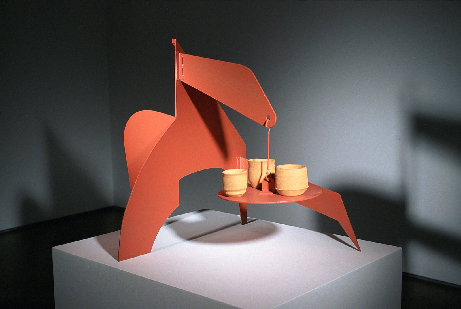 Damian Moppett, Untitled (Stabile A), 2005, iron, paint and stoneware, 32 x 28 x 36 in. (81 x 71 x 91 cm) by Damian Moppett